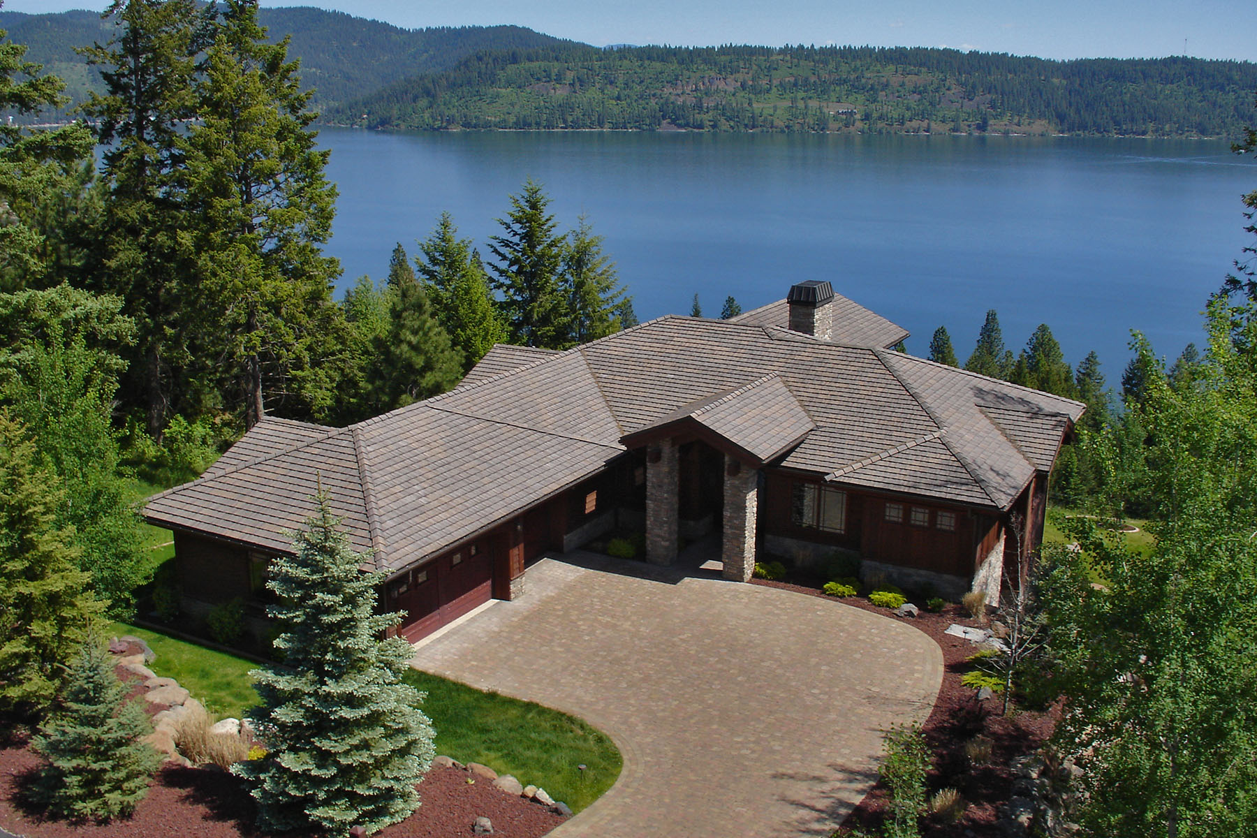 Property For Sale at Stunning Black Rock CDA Lake View Home