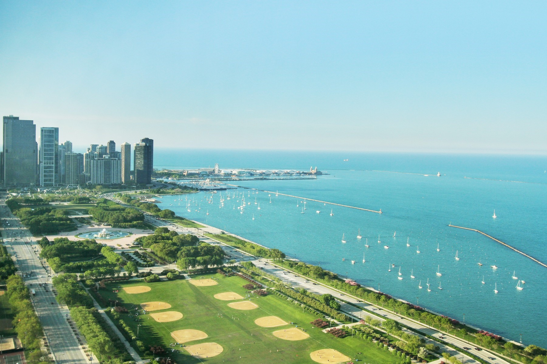콘도미니엄 용 매매 에 Ultra Luxury with Dramatic Lake Views 1211 S Prairie Avenue Unit 5202 Near South Side, Chicago, 일리노이즈, 60605 미국