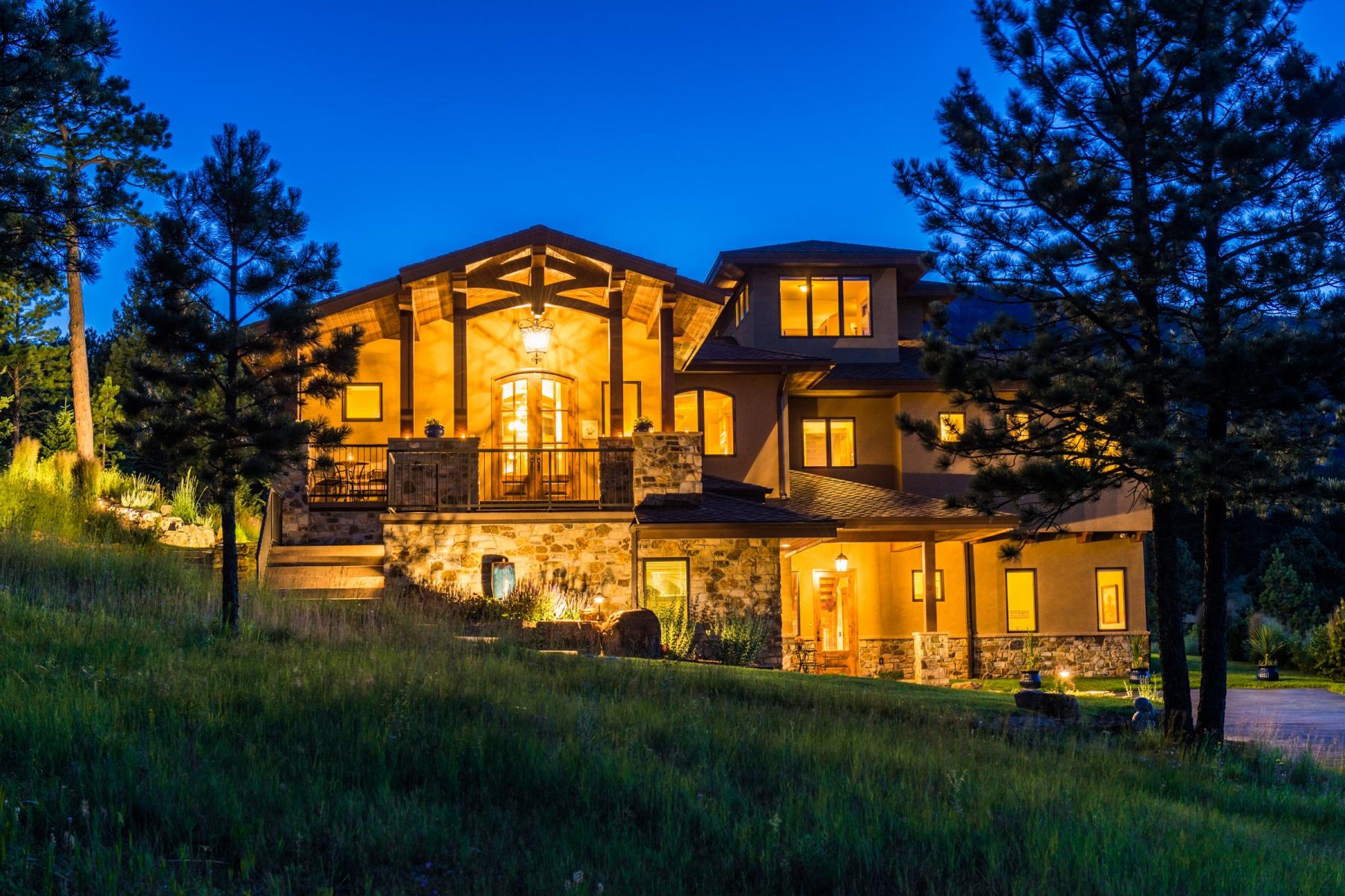 独户住宅 为 销售 在 Grand Tuscan Style Villa 3079 Royale Elk Way Evergreen, 科罗拉多州 80439 美国