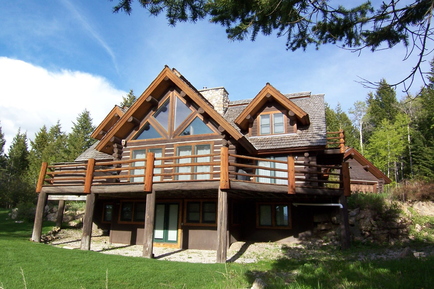 Single Family Home for Sale at Handcrafted Log Home in the Trees 3310 Sorensen Creek Drive Victor, Idaho, 83455 Jackson Hole, United States