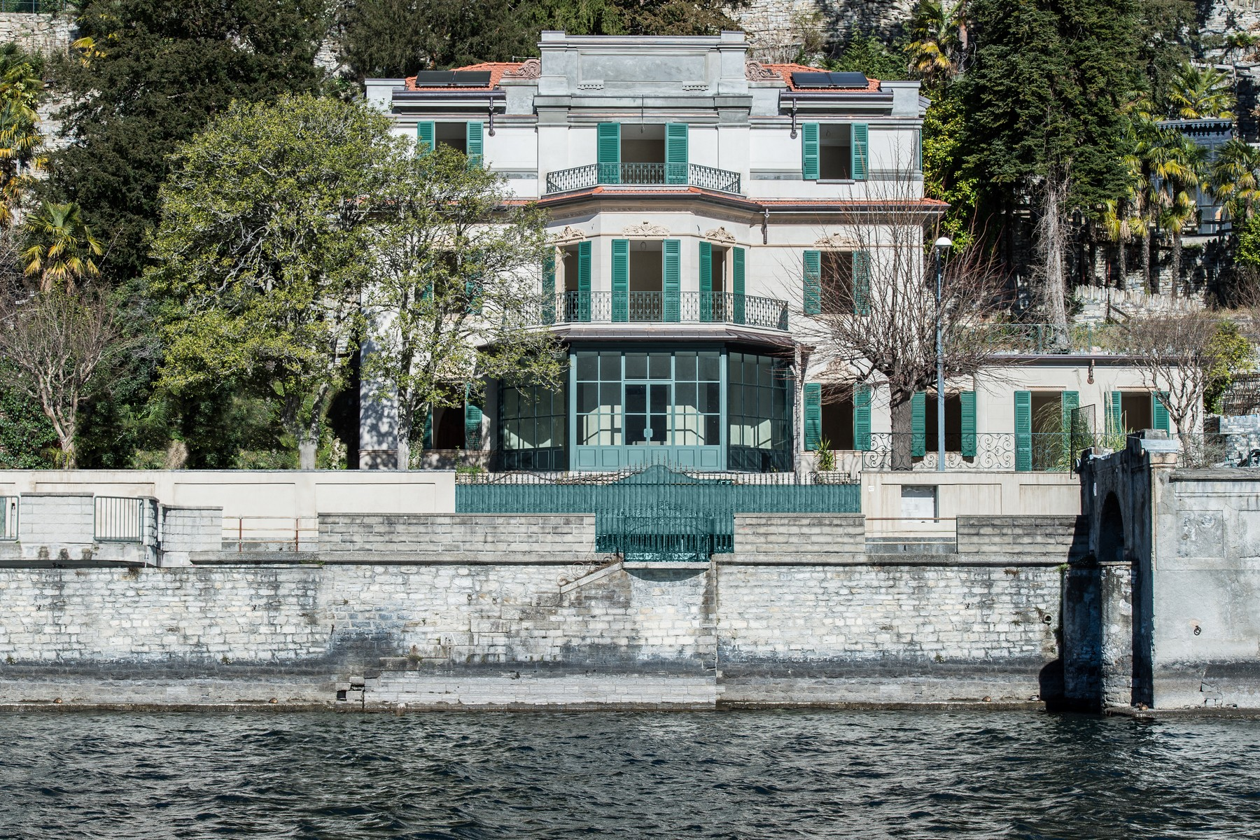 sales property at Prestigious historic  lake front villa with botanical park