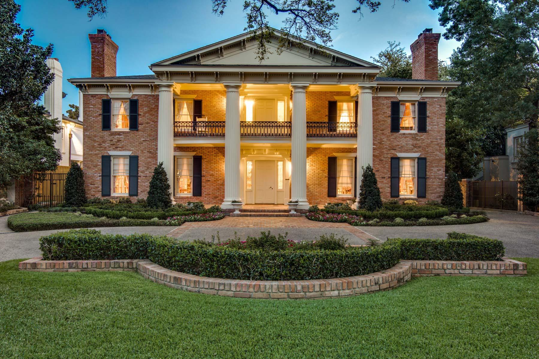 단독 가정 주택 용 매매 에 Old Highland Park, Greek Revival Masterpiece 4005 Gillon Ave Highland Park, 텍사스, 75205 미국