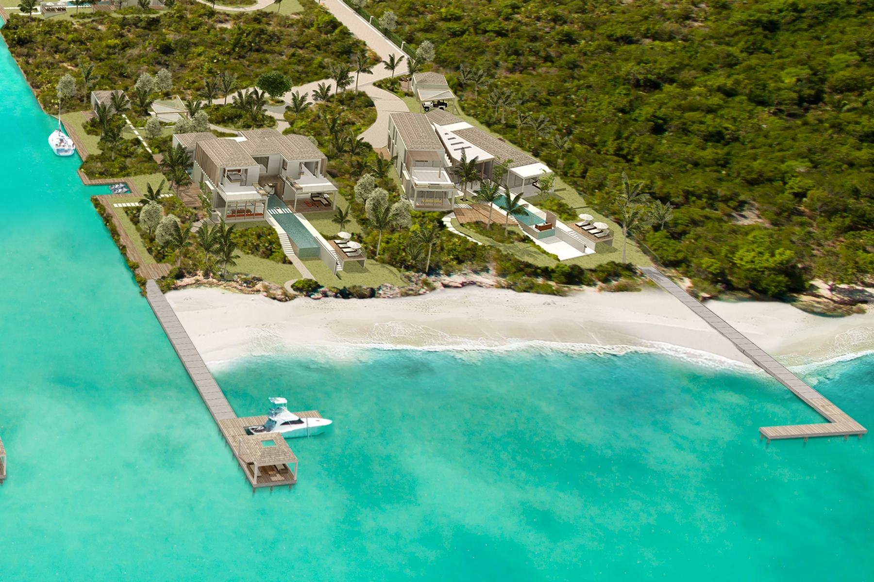 Additional photo for property listing at Panorama Y House - Beachfront Lot 2 Blue Cay Estate, Leeward, 普罗维登夏 特克斯和凯科斯群岛