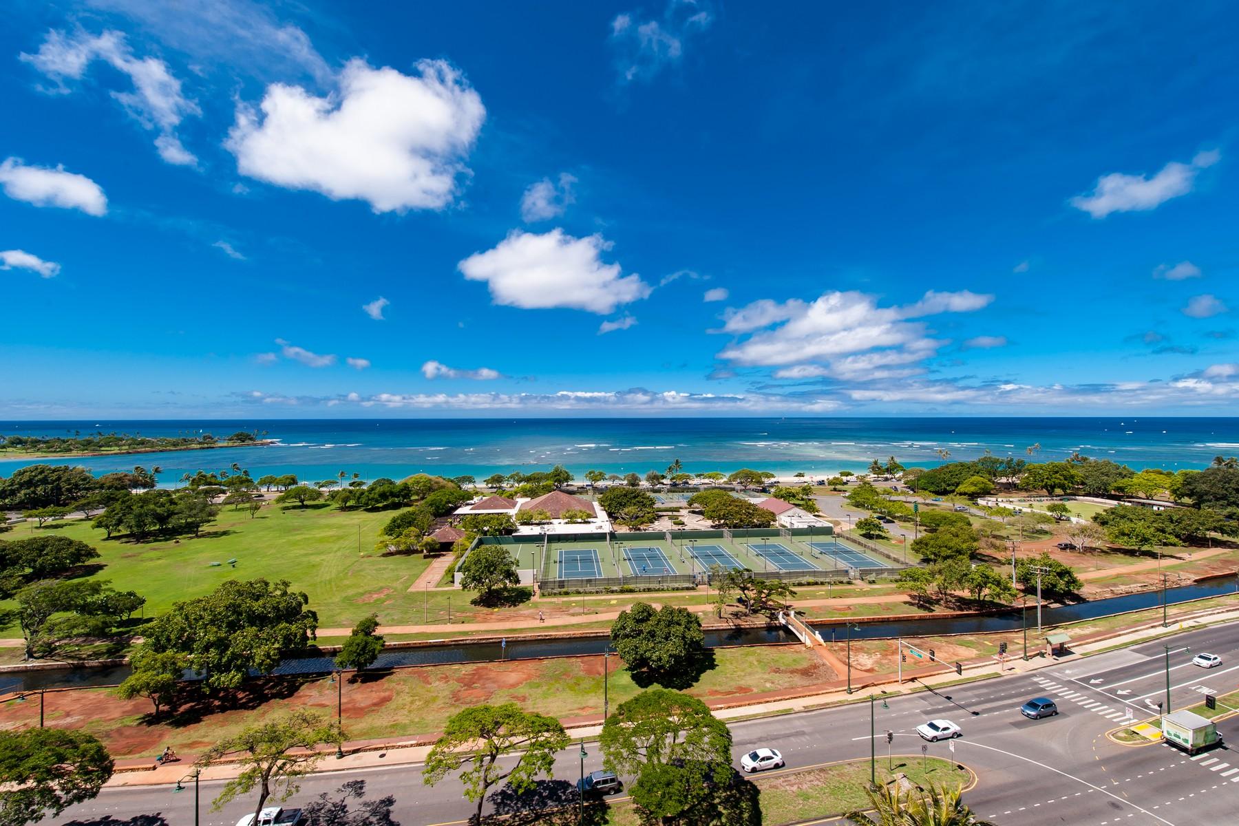 Condominium for Active at Spectacular Ocean View Condo 1288 Ala Moana Blvd #12E & 12F Honolulu, Hawaii 96814 United States
