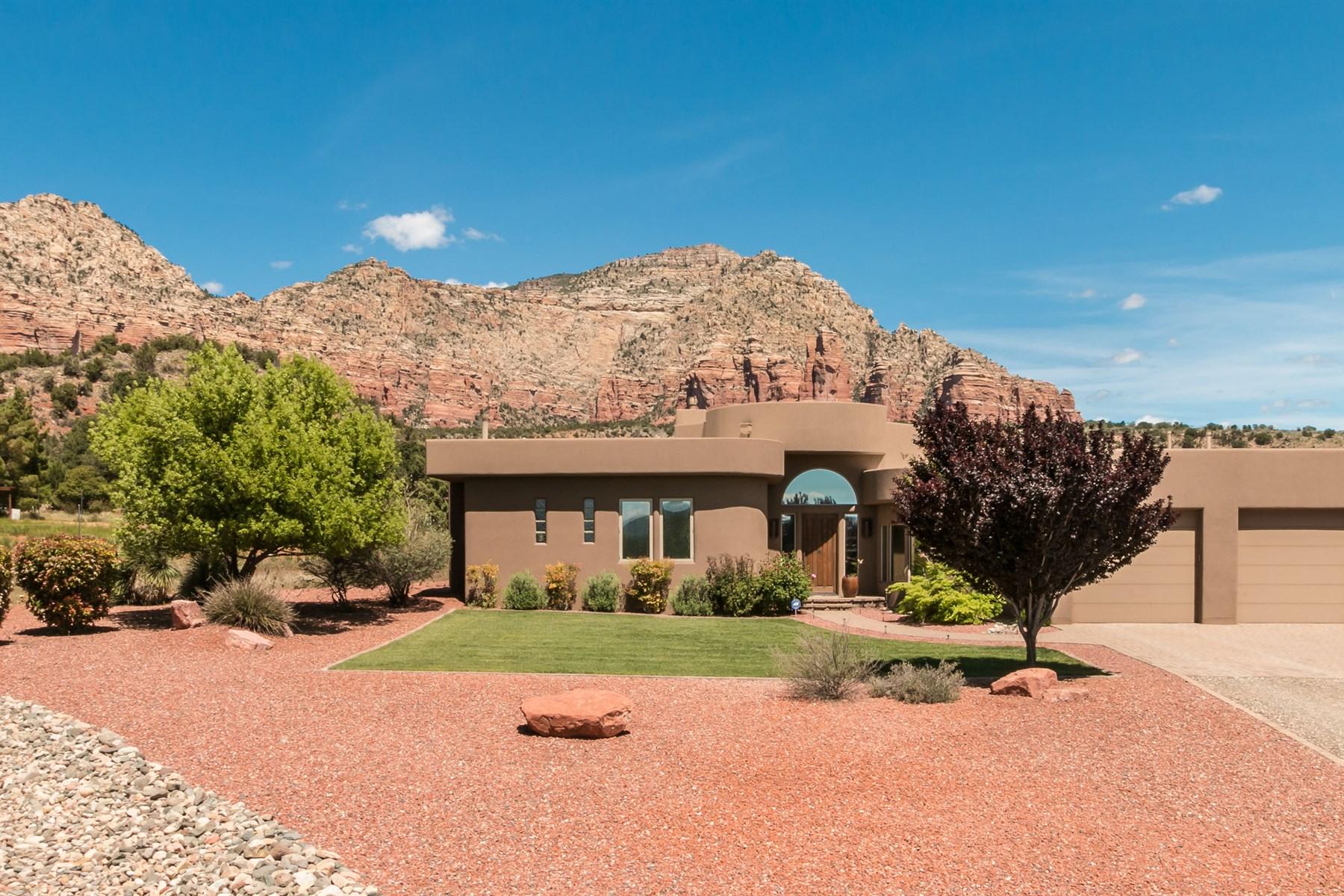 Single Family Home for Sale at Southwestern with a modern flair 90 Sunbeam Acres Lane Sedona, Arizona, 86351 United States