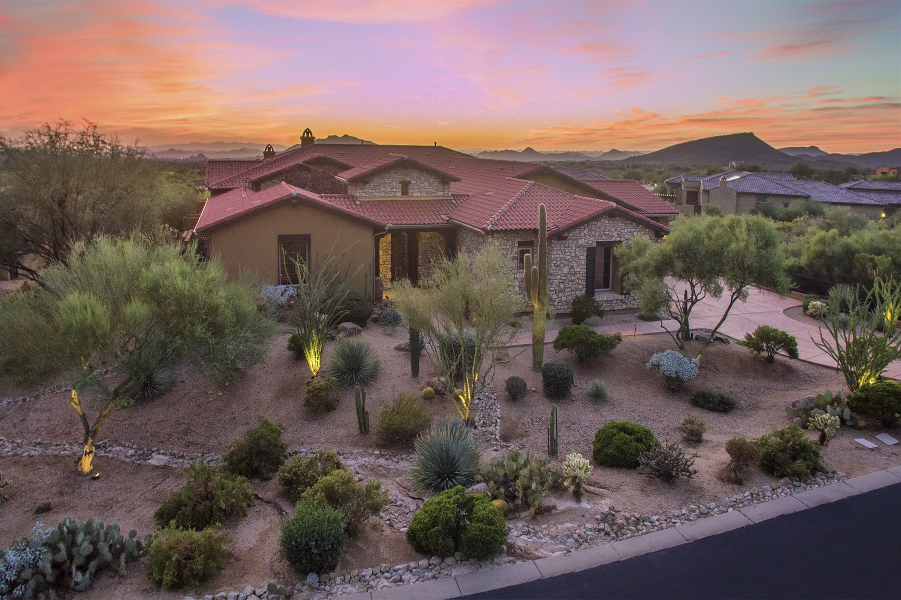 Single Family Home for Sale at Luxury custom home perched high above the Sonoran Desert 38348 N 108th Street Scottsdale, Arizona, 85262 United States