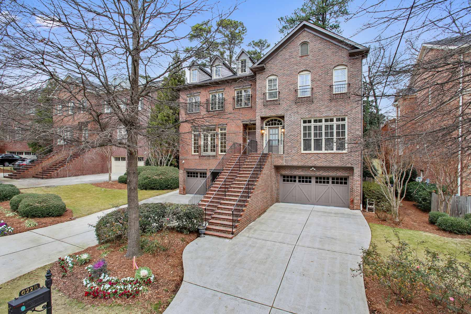 Townhouse for Sale at Exquisite Townhouse in Peachtree Park 622 Timm Valley Road NE Unit B Peachtree Park, Atlanta, Georgia, 30305 United States