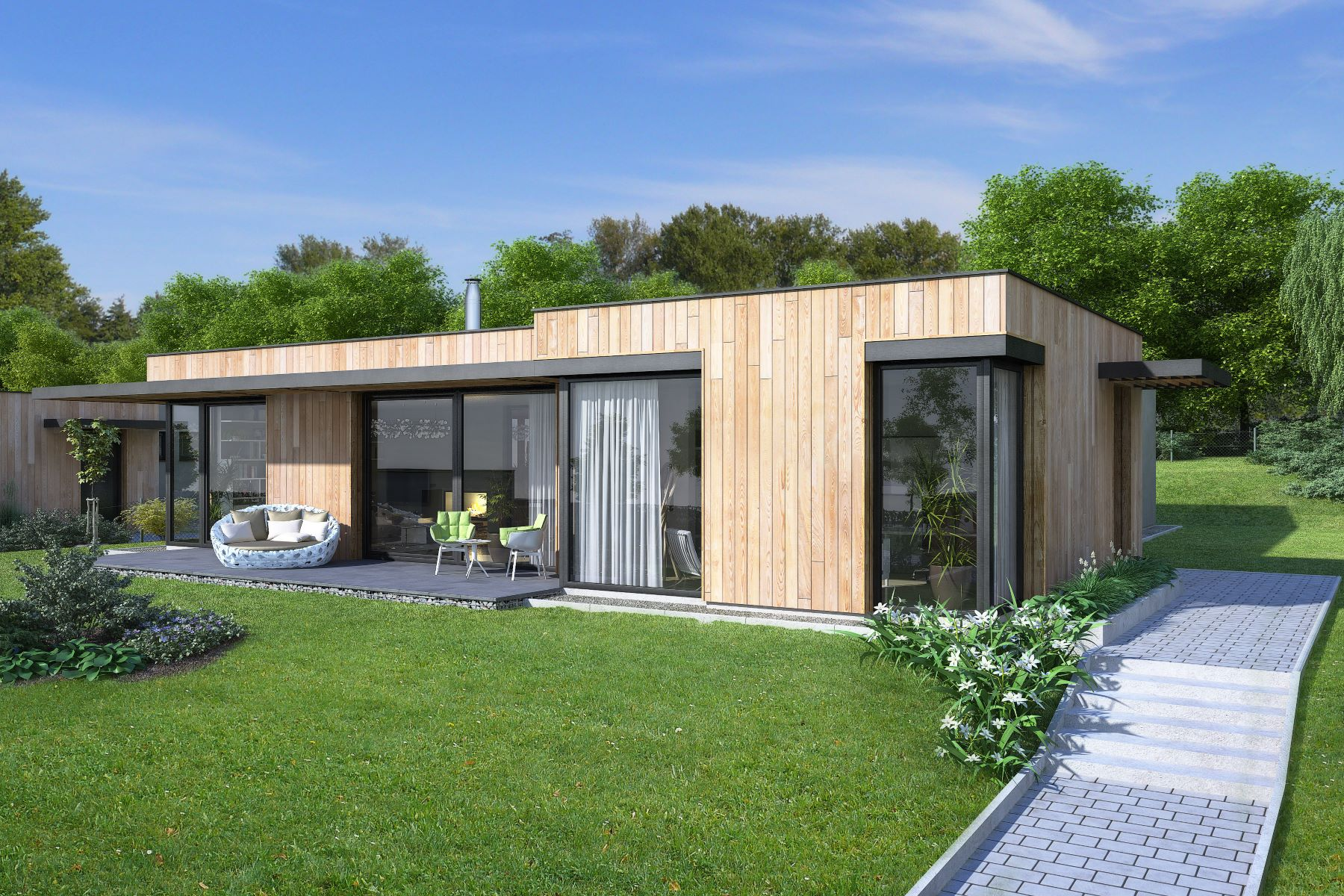 Maison unifamiliale pour l Vente à Zero-energy bungalows on the golf course Autres Central Bohemia, Centre De Boheme, République Tchèque