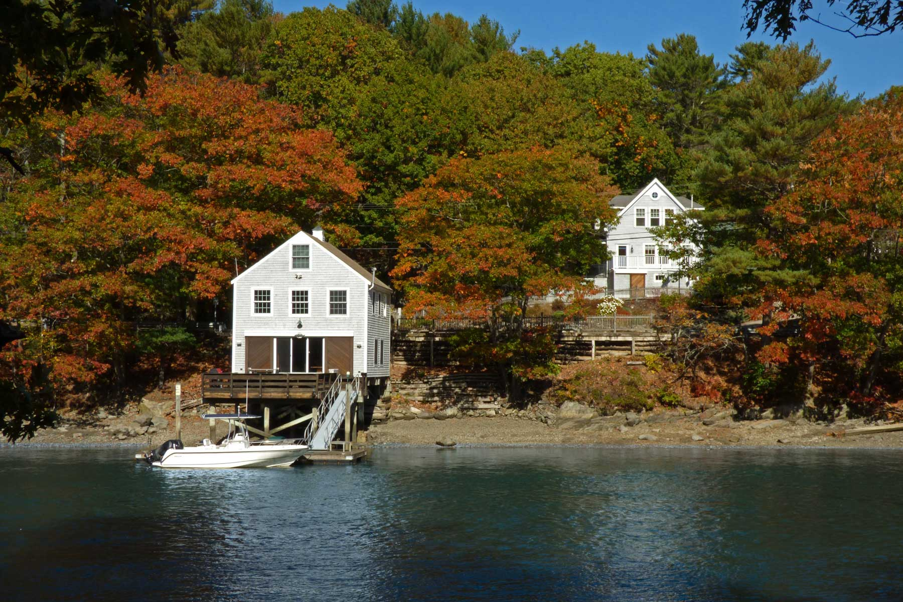 Single Family Home for Sale at Custom Cape and Boathouse in Kittery Point 22 & 23 Chauncey Creek Road Kittery, Maine, 03905 United States
