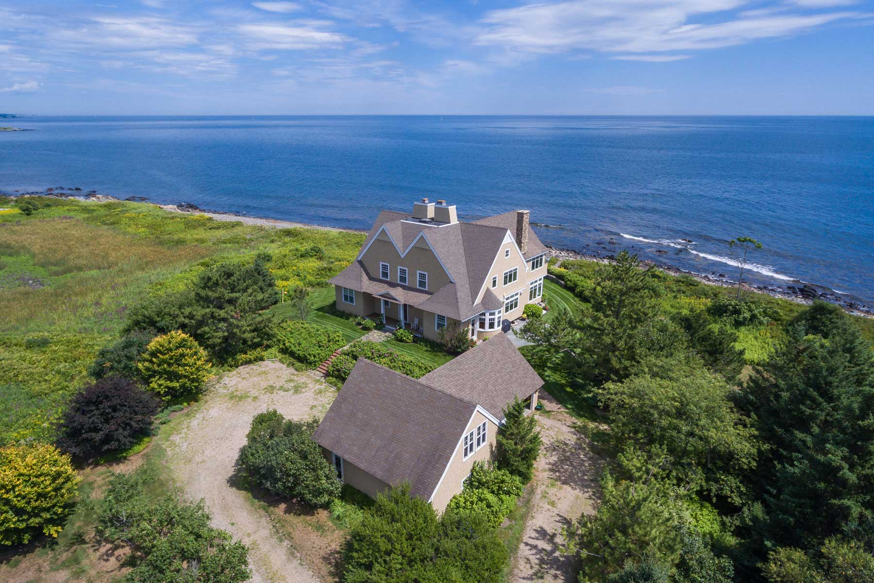 단독 가정 주택 용 매매 에 Kittery Point Oceanfront Shingle Style 94 Goodwin Road Kittery, 마이애미, 03905 미국