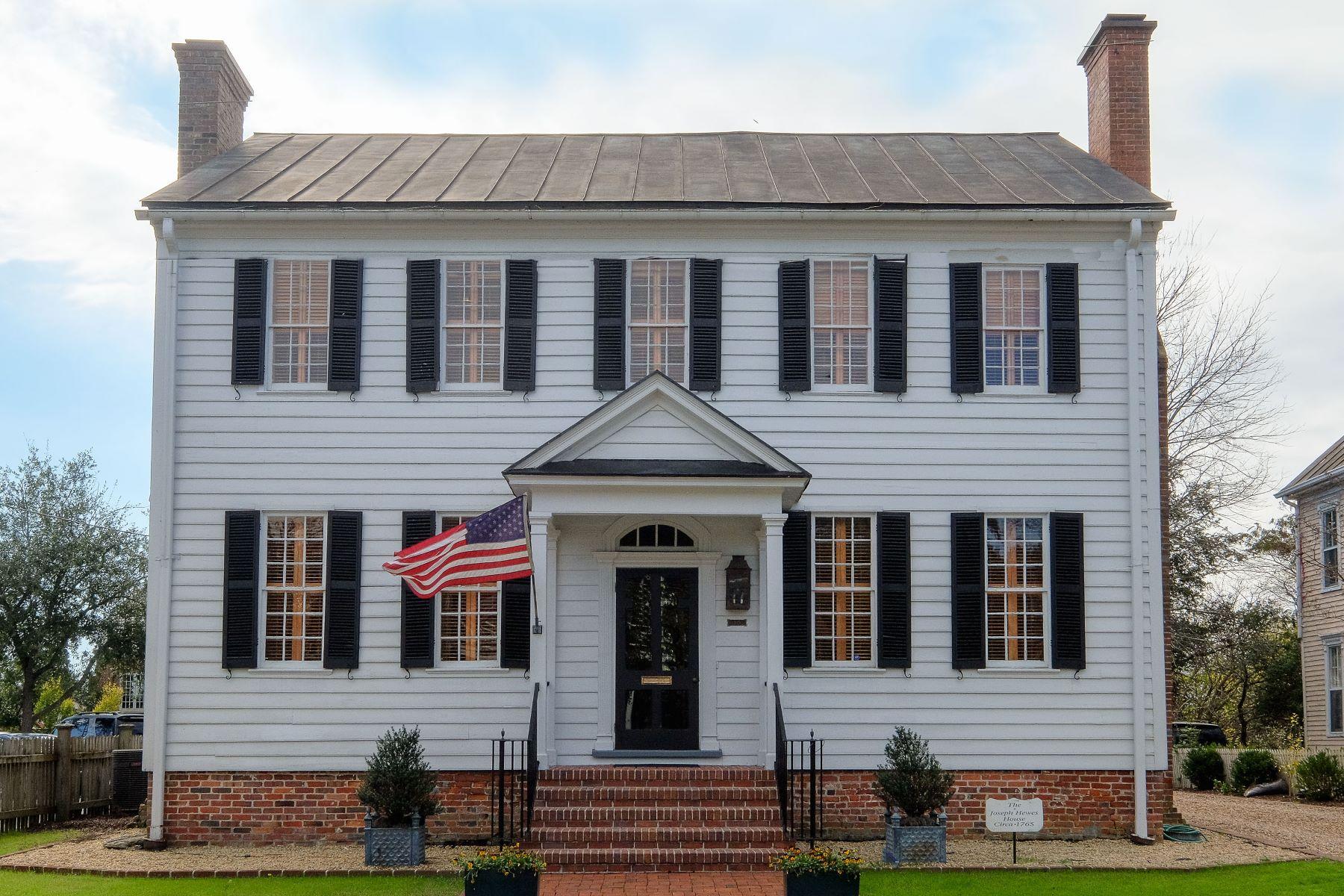 단독 가정 주택 용 매매 에 Joseph Hewes House 105 W King St Edenton, 노스캐놀라이나, 27932 미국