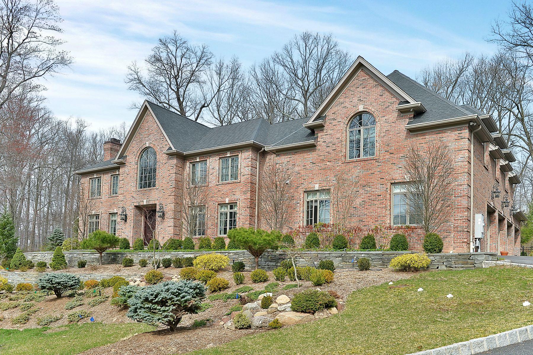 Casa Unifamiliar por un Venta en Hilltop Brick Manor 26 Fox Hedge Road Saddle River, Nueva Jersey, 07458 Estados Unidos