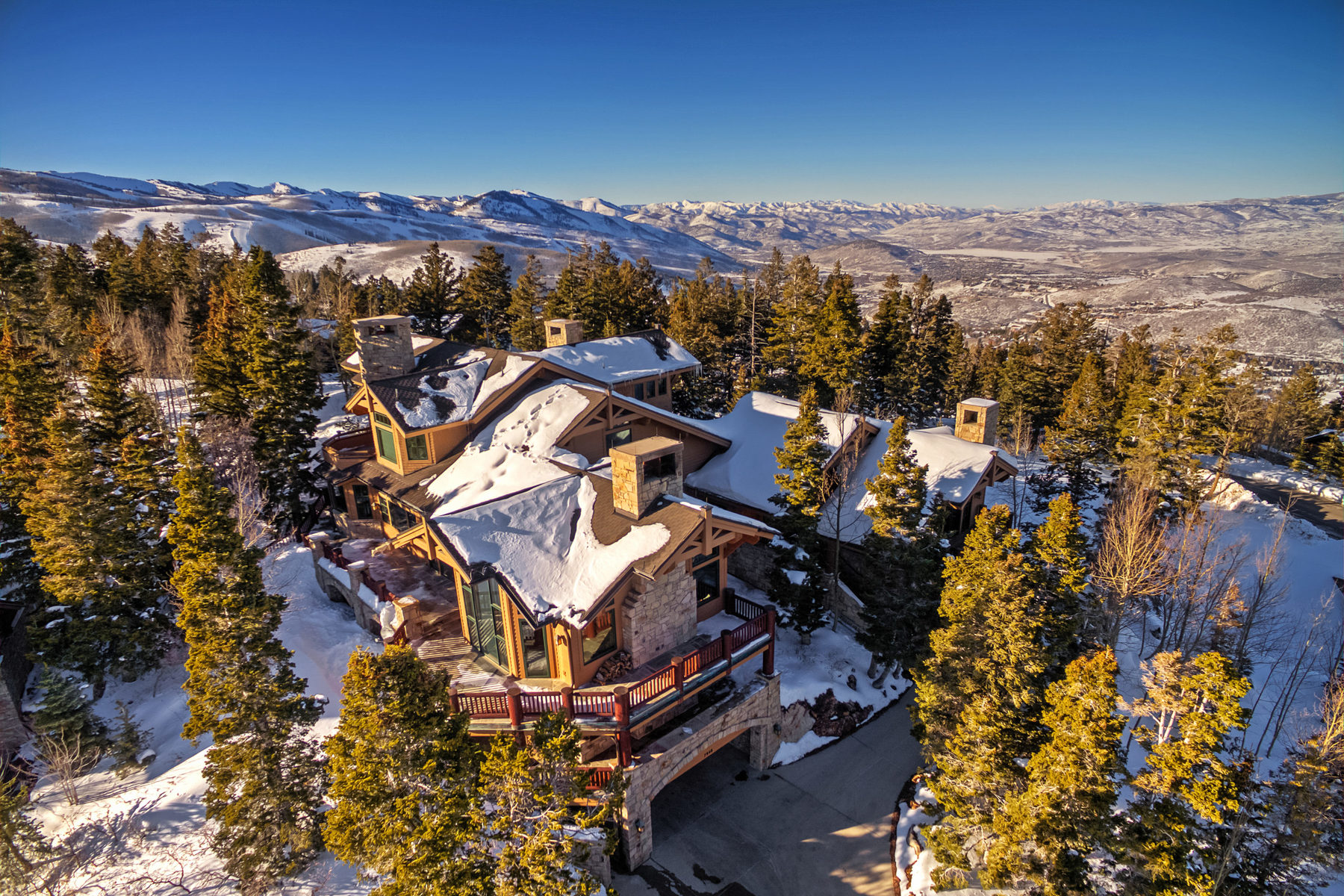 Single Family Home for Sale at Privacy, Luxury, Views and Ultimate Ski access in Bald Eagle community 7948 Red Tail Ct Park City, Utah, 84060 United States