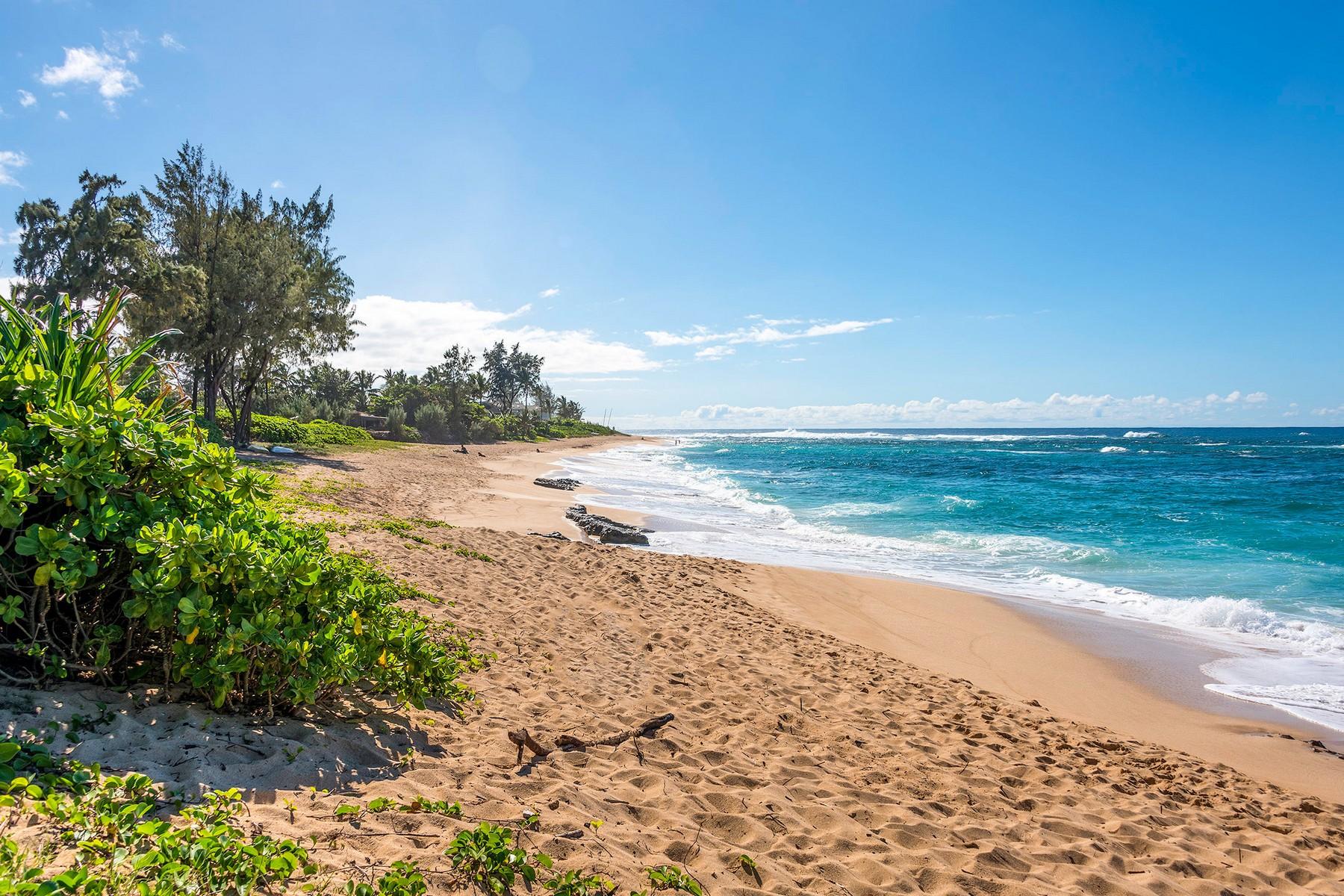 Maison unifamiliale pour l Vente à Custom North Shore Gem 58-160 Napoonala Pl Haleiwa, Hawaii, 96712 États-Unis