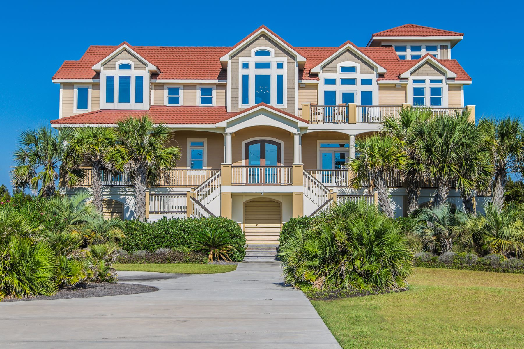Single Family Home for Sale at Harmonious view of both the ocean and sound in ultimate privacy 557 New River Inlet Road N Topsail Beach, North Carolina, 28460 United States