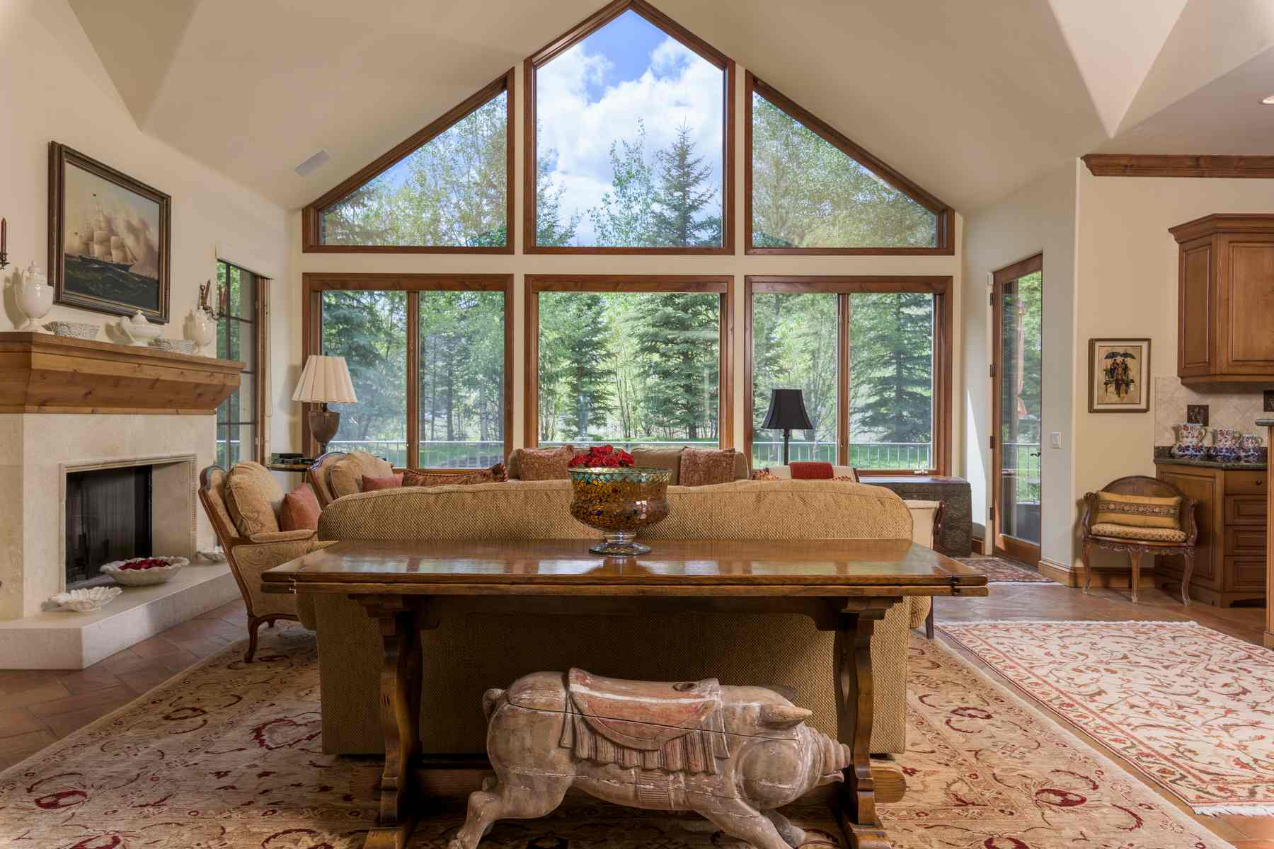 Частный односемейный дом для того Продажа на Rarely Available Estate Caliber Home 1100 W Canyon Run Blvd. Warm Springs, Ketchum, Айдахо, 83340 Соединенные Штаты