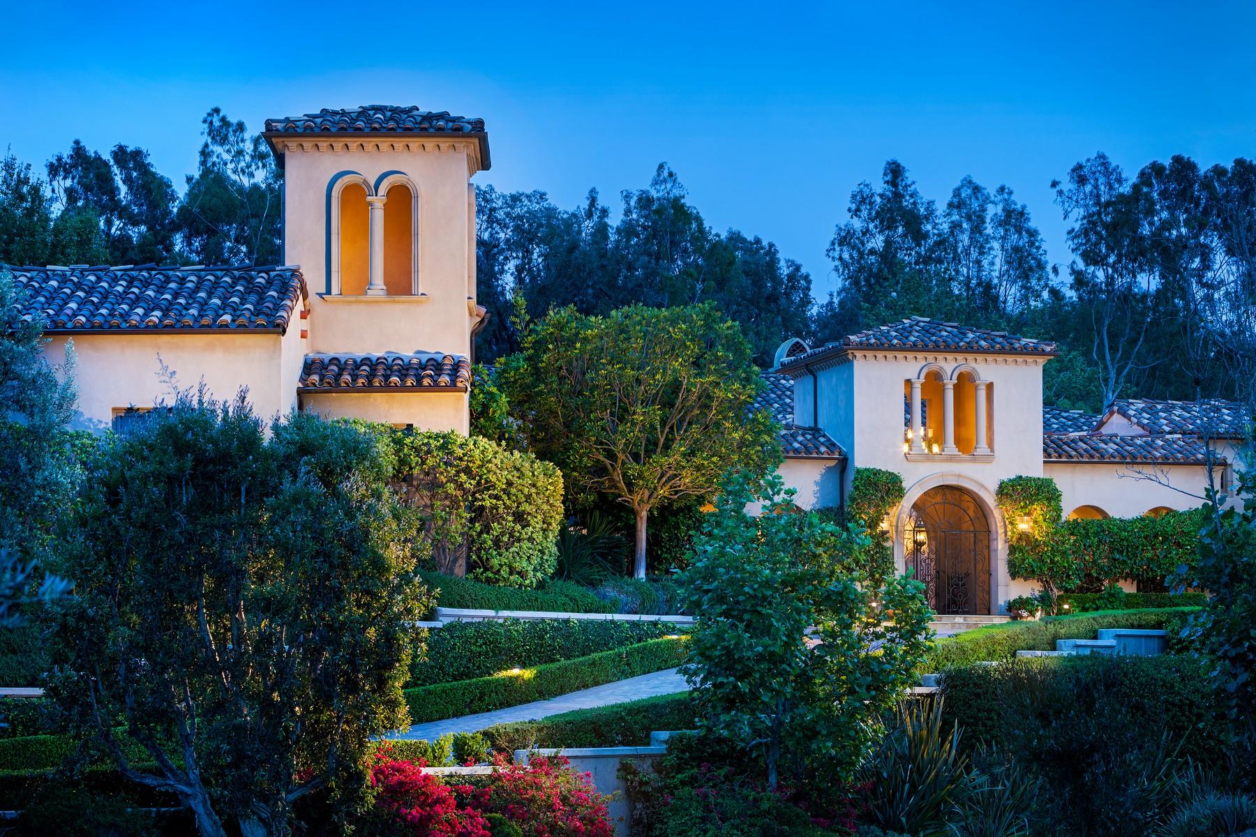Частный односемейный дом для того Продажа на 6603 Calle Ponte Bella Rancho Santa Fe, Калифорния, 92091 Соединенные Штаты
