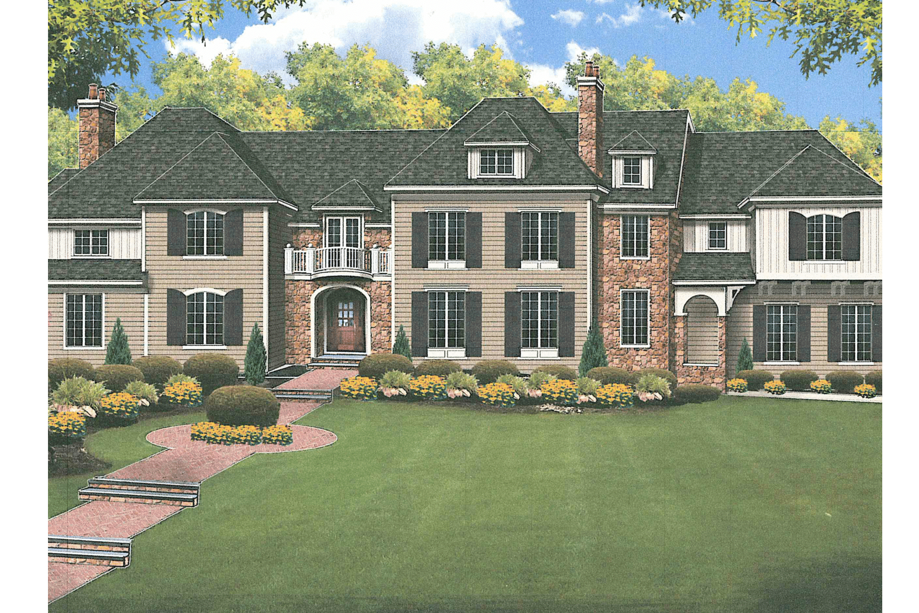 Maison unifamiliale pour l Vente à Magnificent Center Hall Colonial 18 Dorison Drive Short Hills, New Jersey, 07078 États-Unis