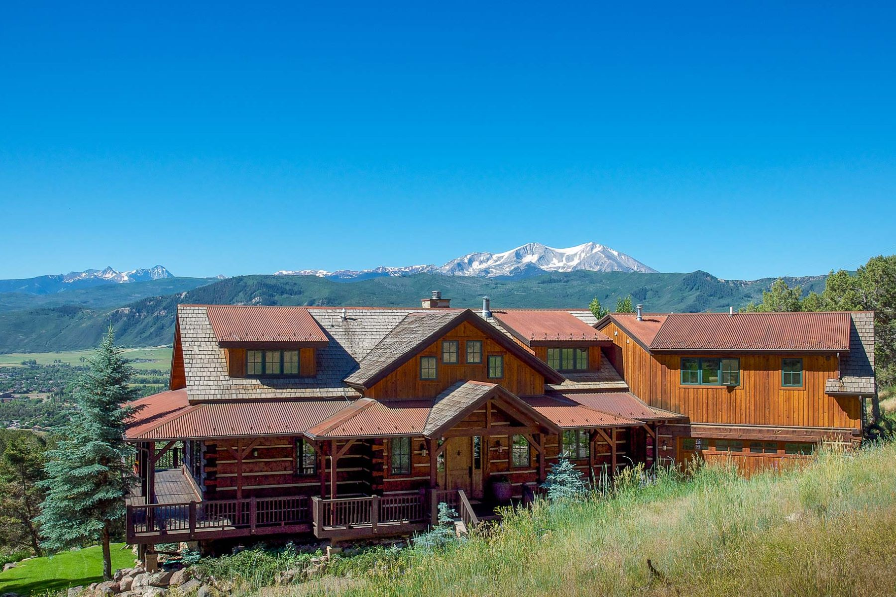 Maison unifamiliale pour l Vente à Log Home with Majestic Views Carbondale, Colorado, 81623 États-Unis