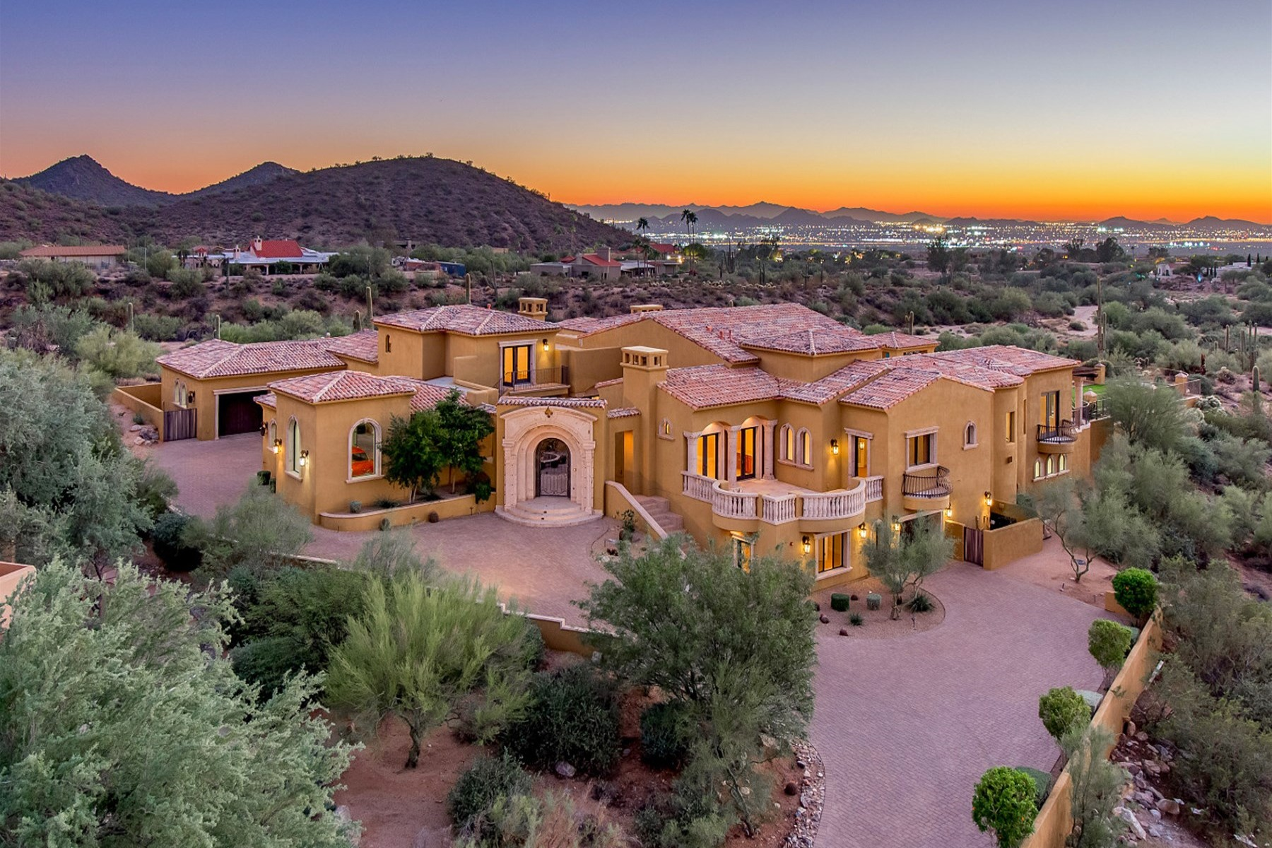 sales property at Soft Mediterranean estate in Sonoran Highlands