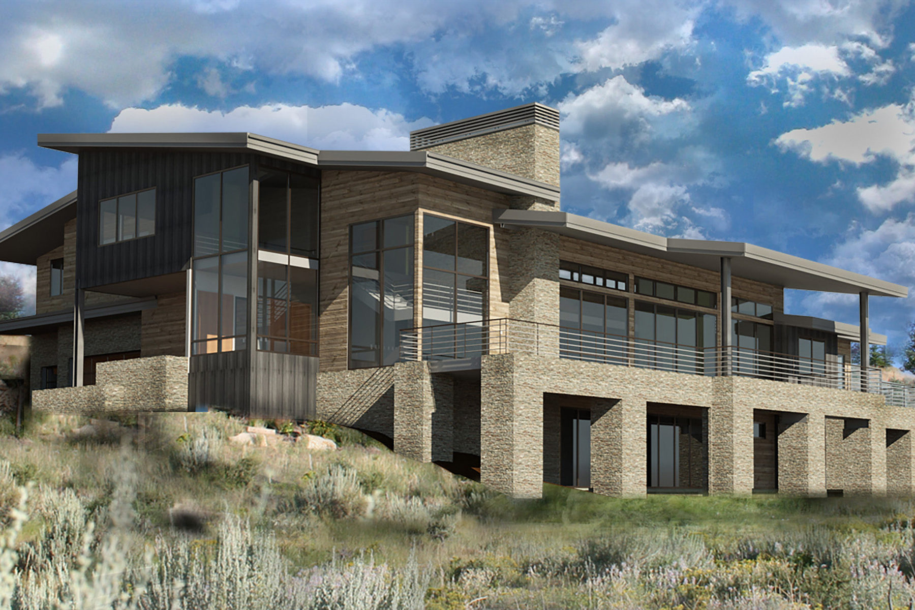 Casa Unifamiliar por un Venta en Promontory New Contemporary 8340 N Ranch Garden Rd Park City, Utah, 84098 Estados Unidos