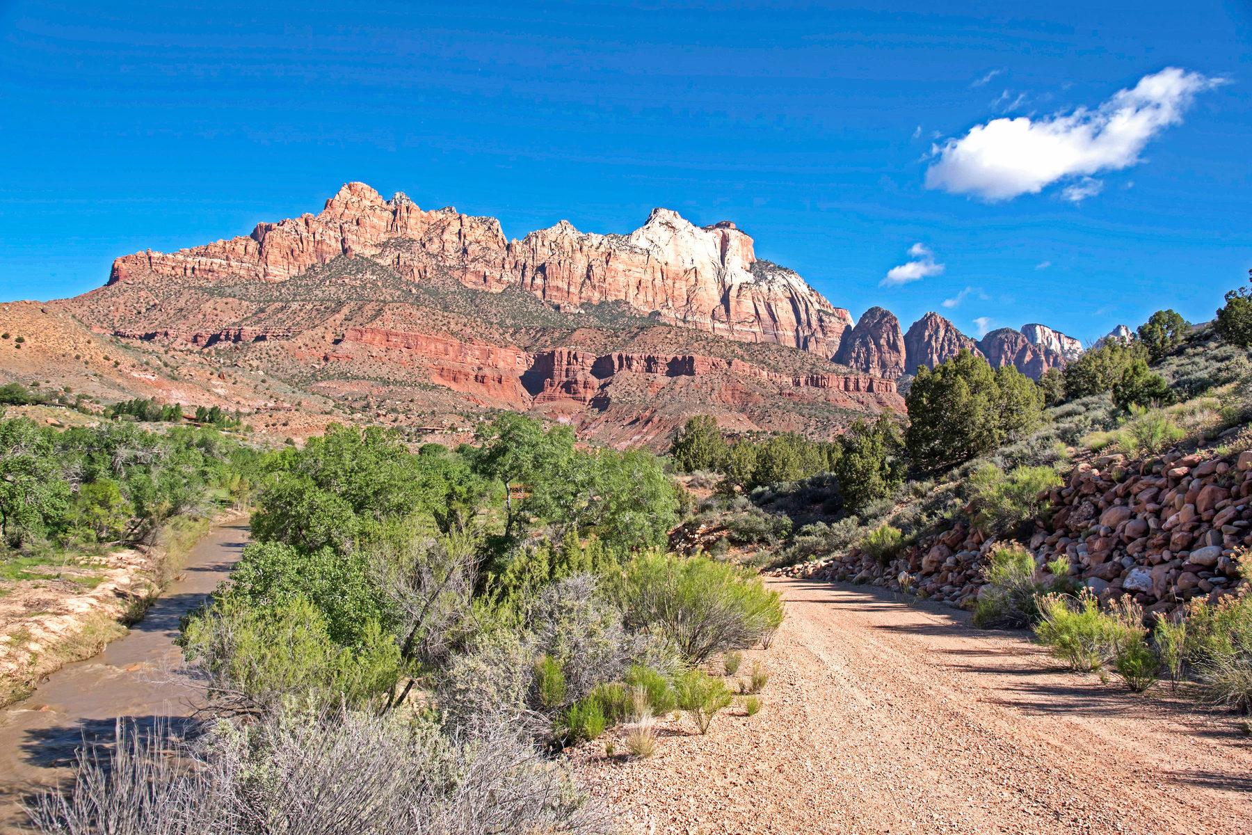 Terrain pour l Vente à ZION HIDEAWAY! 100 North Fork Rd Springdale, Utah, 84767 États-Unis