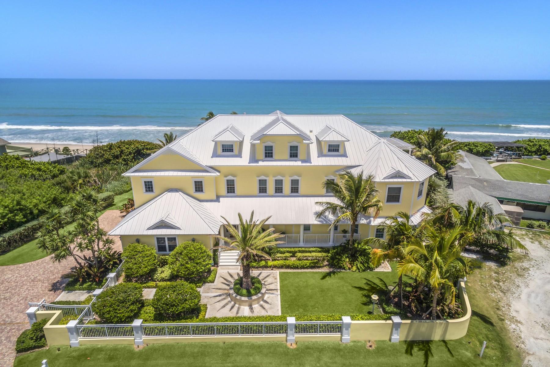 Частный односемейный дом для того Продажа на 5045 Highway A1A Melbourne Beach, Флорида, 32951 Соединенные Штаты