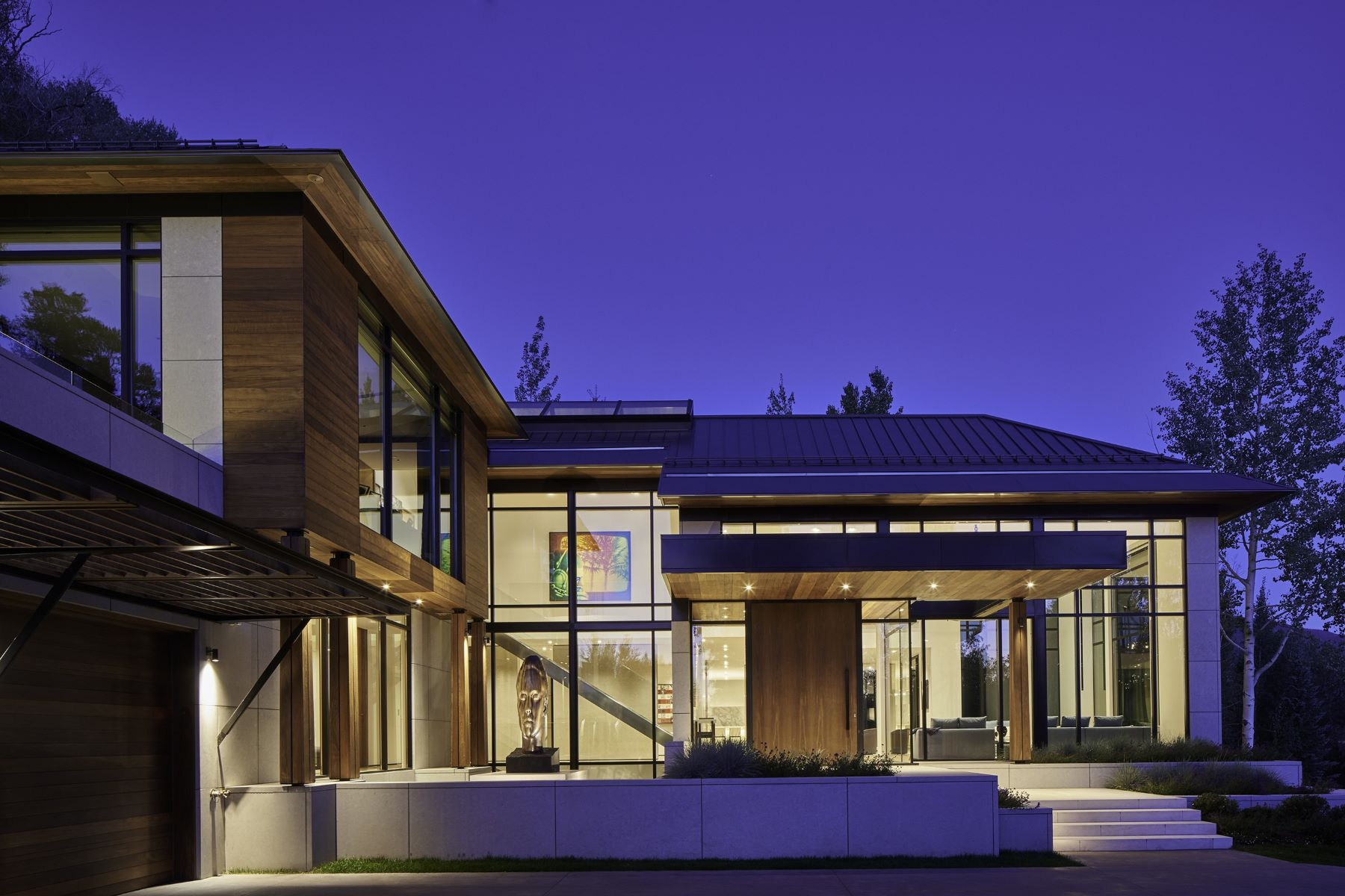 Single Family Home for Sale at Magnificent Contemporary Home with Extraordinary Views on Willoughby Way 343 Willoughby Way Aspen, Colorado, 81611 United States