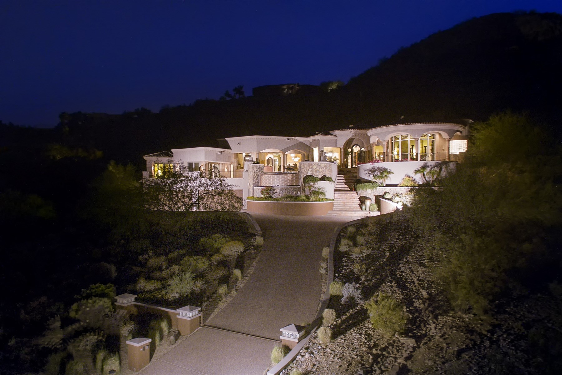 sales property at Chic Mediterranean Villa with Sweeping Views of Mummy and McDowell Mountains