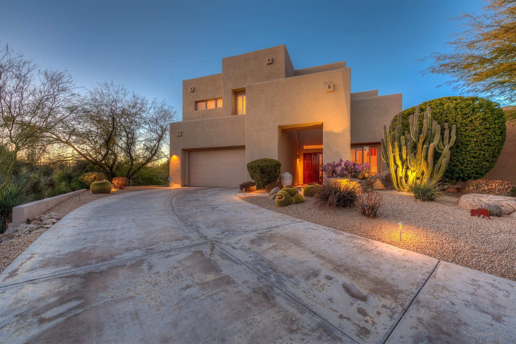 Single Family Home for Sale at Immaculate territorial-inspired home 10772 E Running Deer Trail Scottsdale, Arizona, 85262 United States