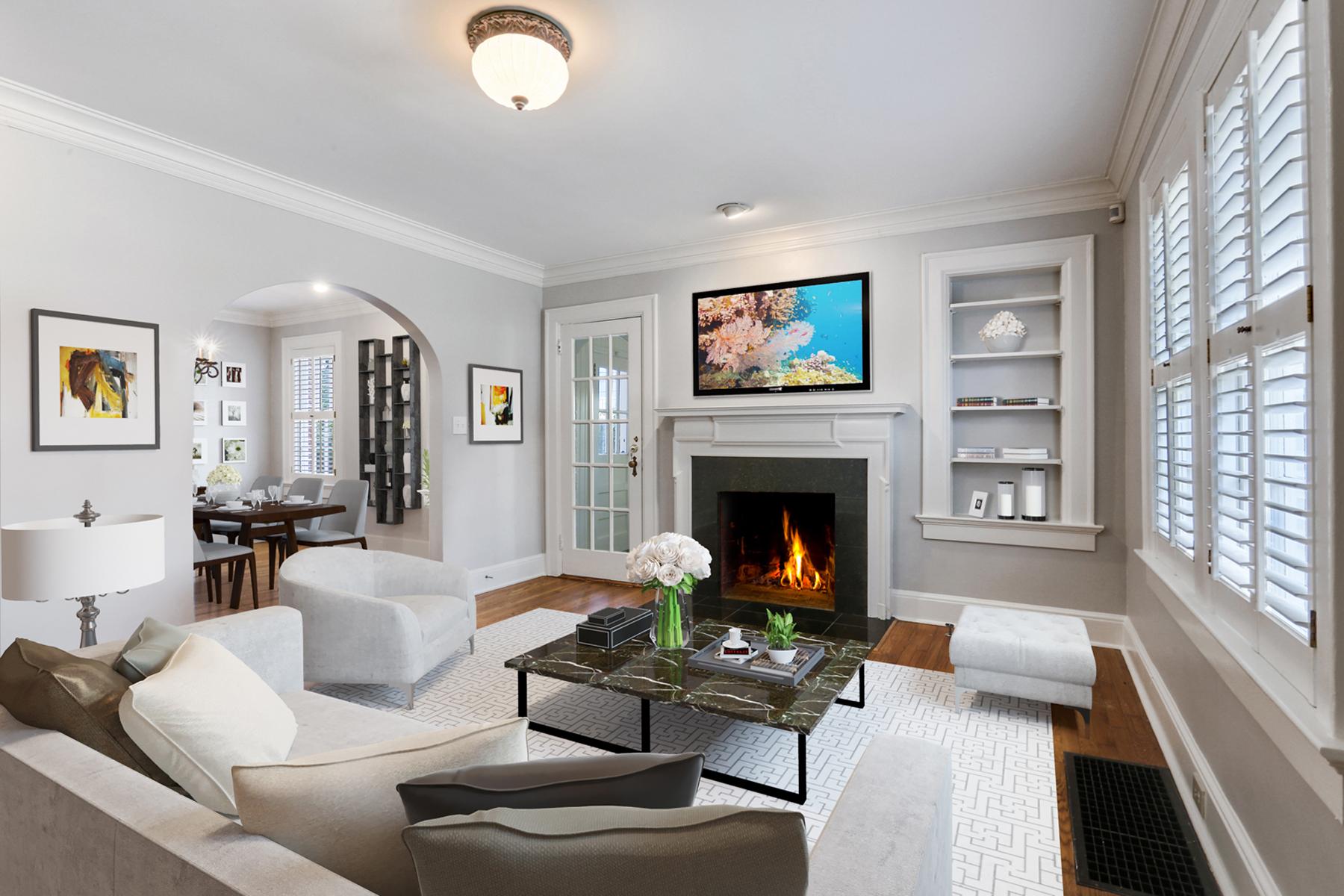 단독 가정 주택 용 매매 에 Perfect Peachtree Park Expansion 91 Highland Drive NE Atlanta, 조지아, 30305 미국