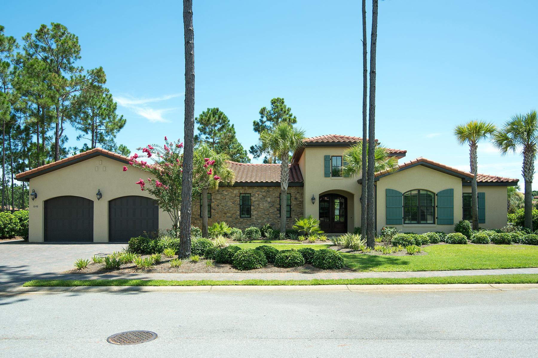 Частный односемейный дом для того Продажа на EXQUISITE HOME ON THE LAKE IN SOUGHT AFTER SANDESTIN NEIGHBORHOOD 1648 San Marina Boulevard Miramar Beach, Флорида, 32550 Соединенные Штаты