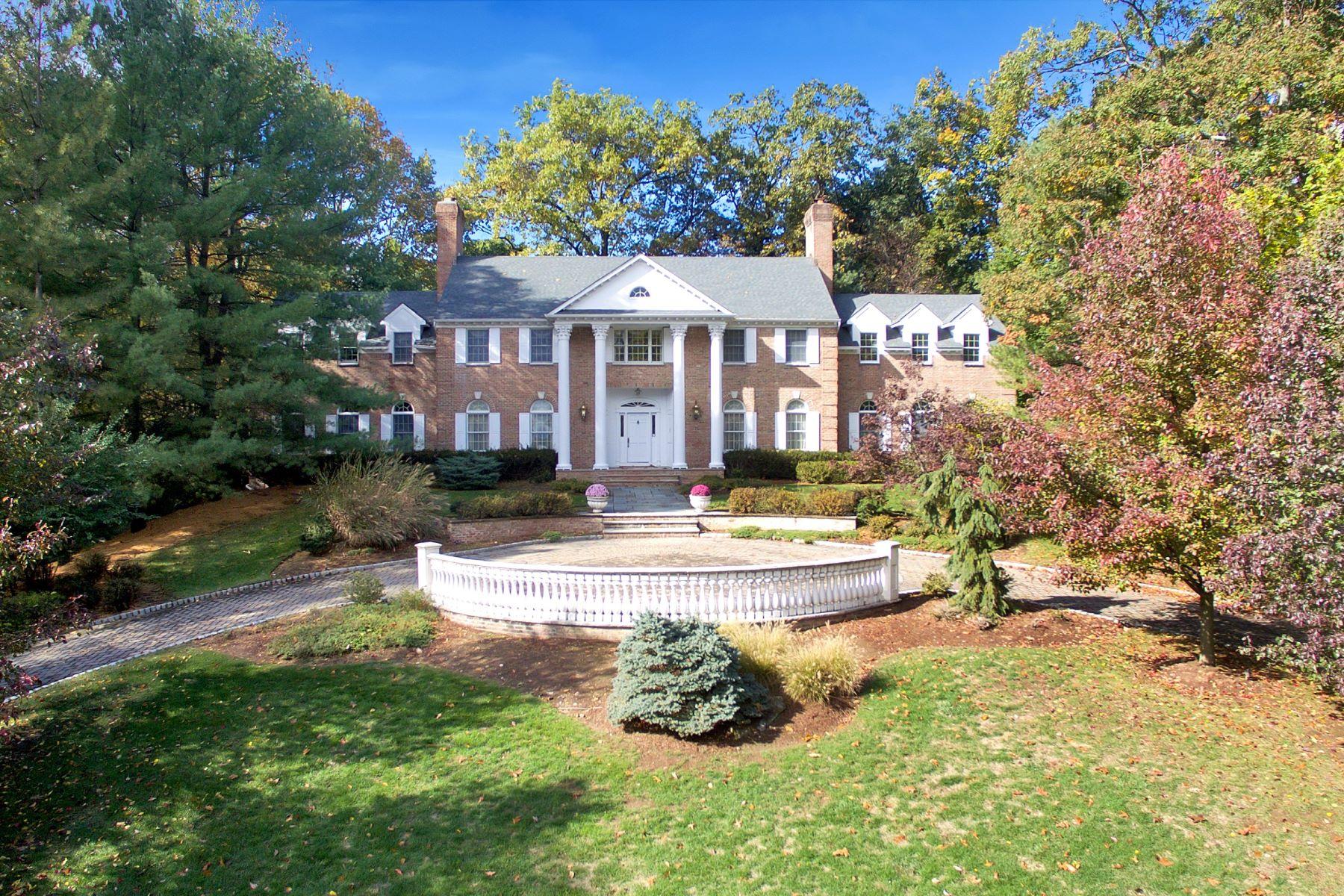 단독 가정 주택 용 매매 에 All Brick Mansion 1 Lookout Drive Saddle River, 뉴저지, 07458 미국