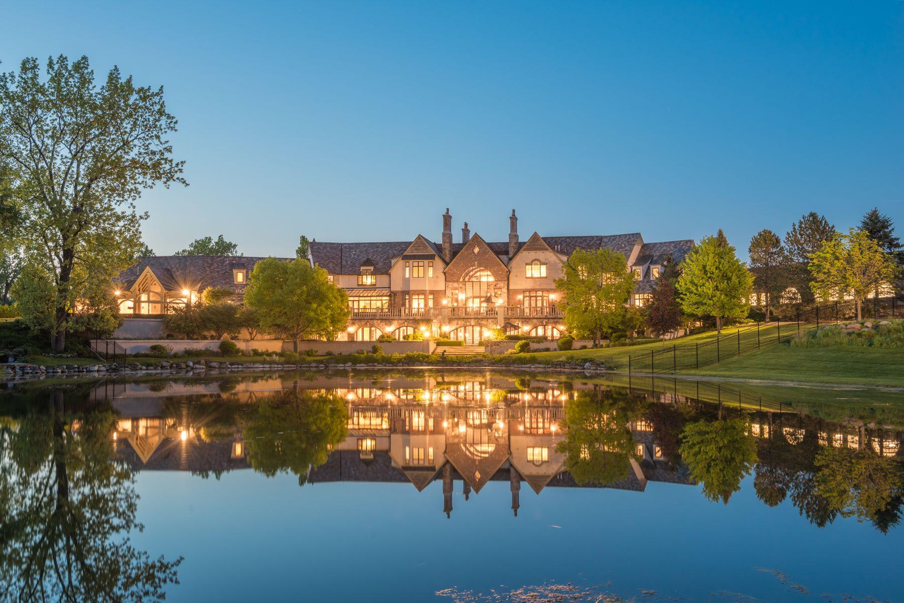 Casa Unifamiliar por un Venta en The Hidden Ponds Estate 7 Fox Hunt Road Barrington Hills, Illinois, 60010 Estados Unidos