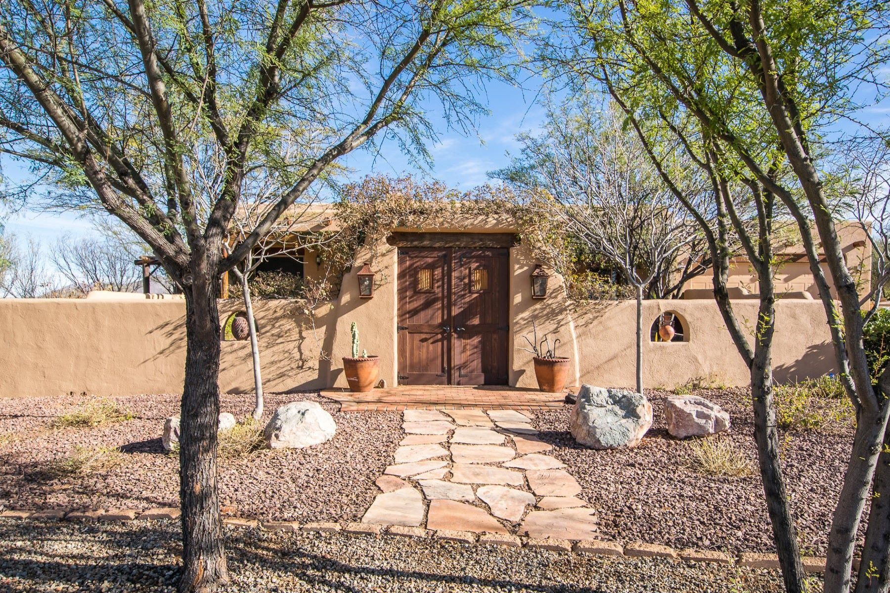Single Family Home for Sale at Beautifully unique property with unobstructed views 19 Camino Nacozari Tubac, Arizona, 85646 United States