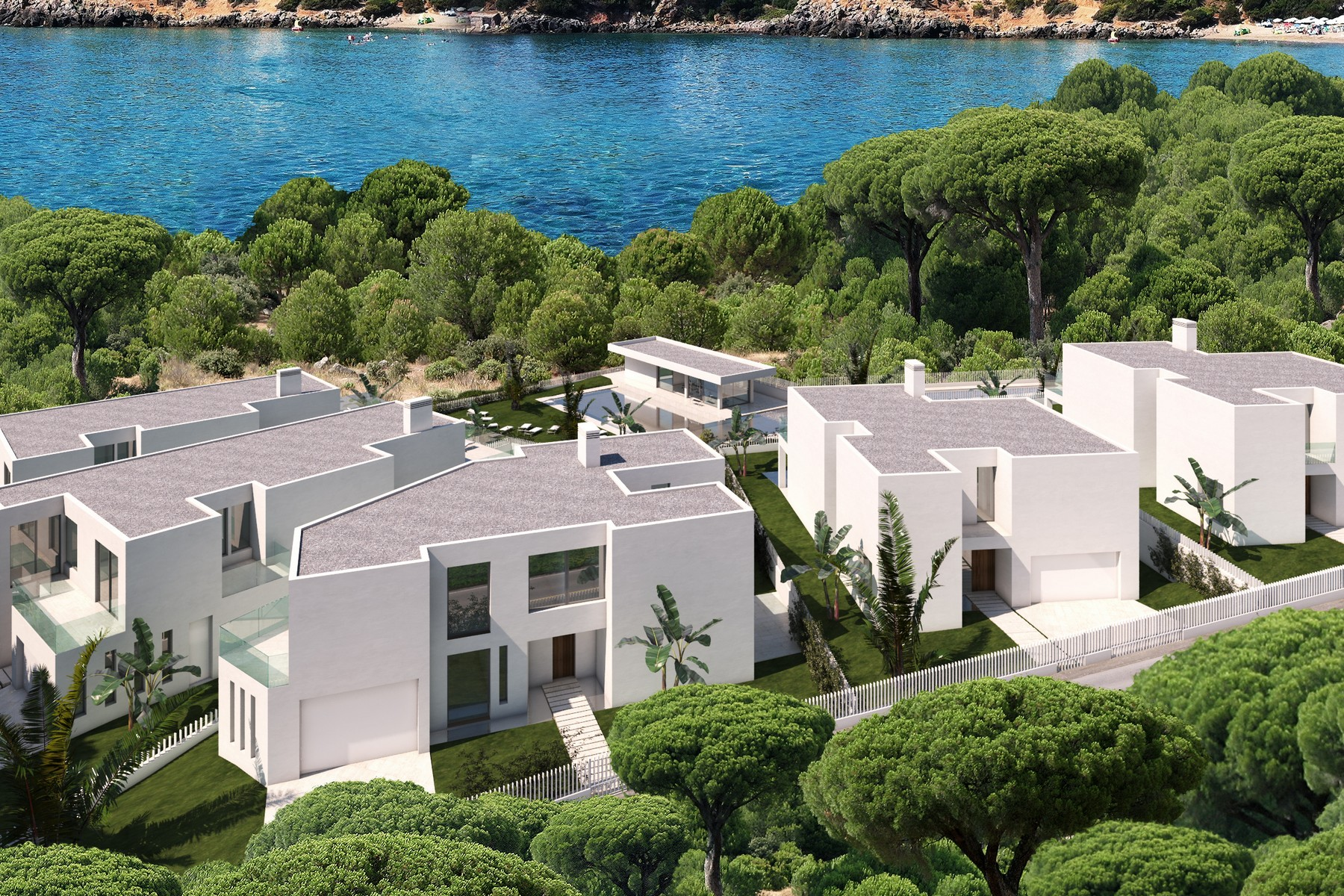Villa per Vendita alle ore Brand New Luxury Villas Close To Sea Cala Lleña Santa Eulalia, Ibiza, 07850 Spagna