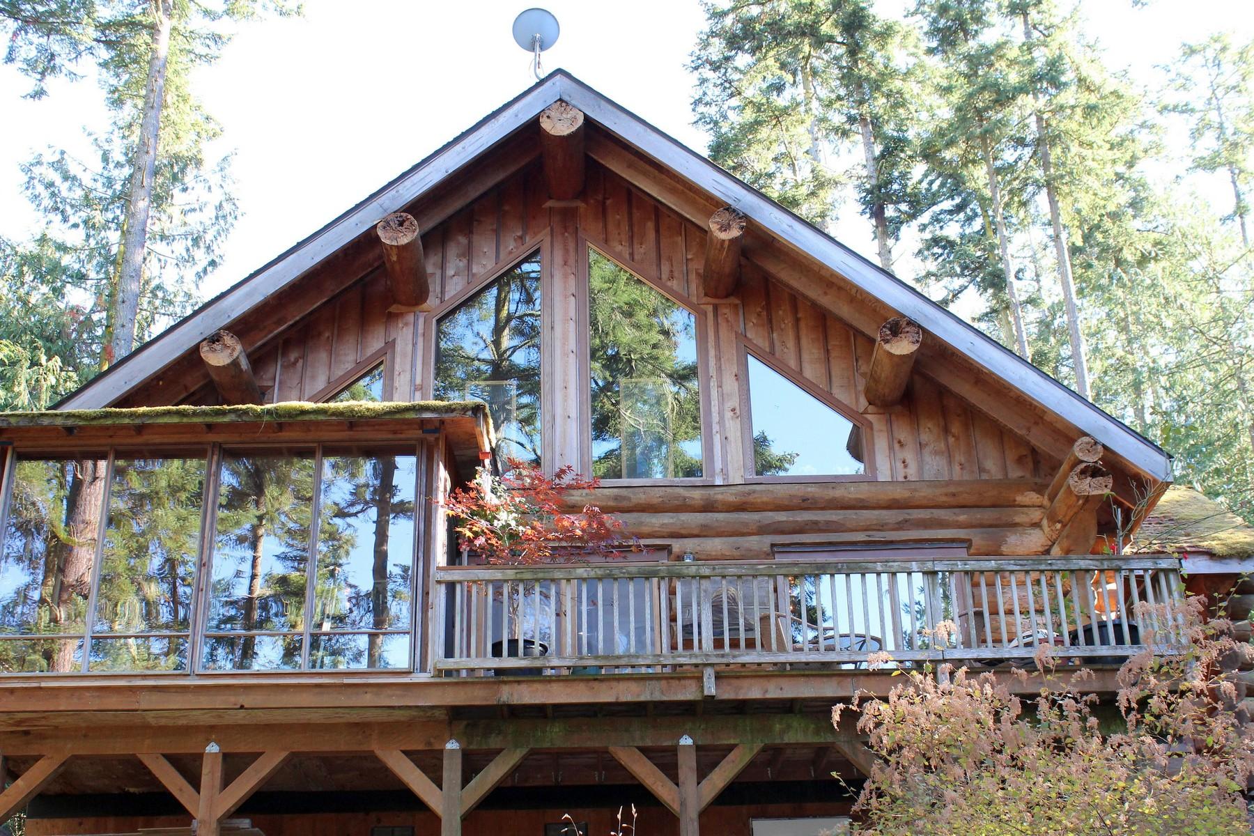 其它住宅 为 销售 在 Custom Designed Log Home 7 Moss Garden Lane 星期五港, 华盛顿州, 98250 美国