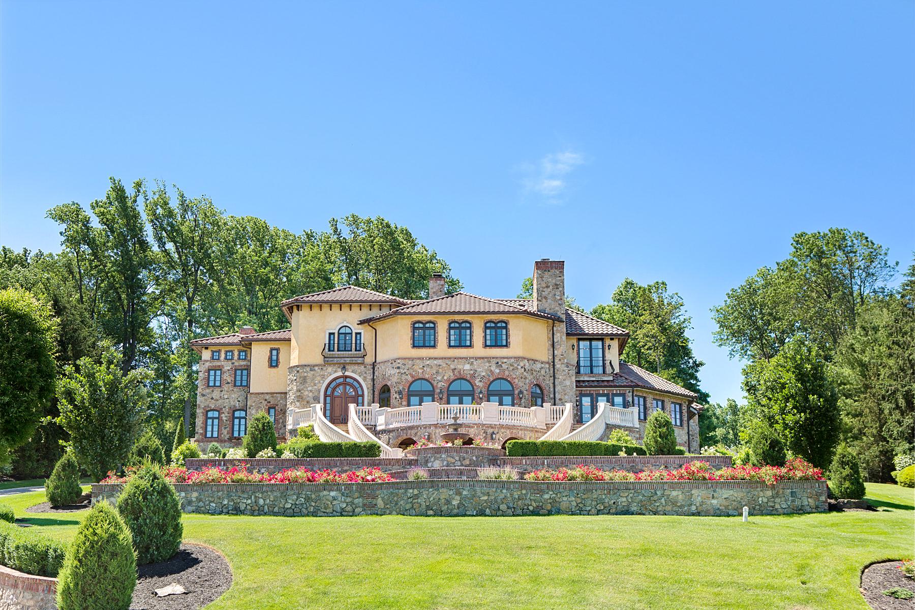 Частный односемейный дом для того Продажа на Villa De Sogni Dream House 5 Tiffany's Way Warren, 07059 Соединенные Штаты