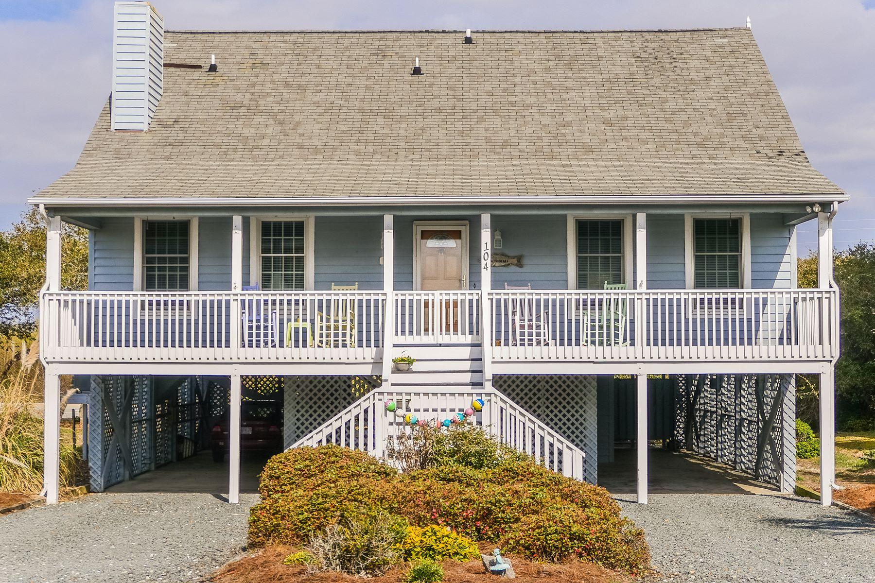 Maison unifamiliale pour l Vente à Inviting Beach Cottage 104 South Permuda Wynd N Topsail Beach, Carolina Du Nord, 28445 États-Unis