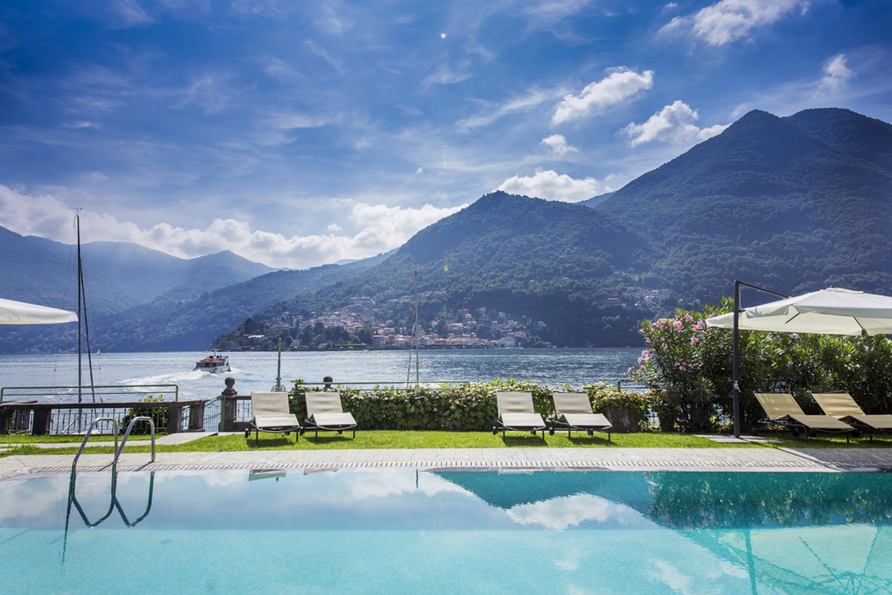 Apartment for Sale at A celebrity-owned lakefront Penthouse within a prestigious villa in Moltrasio via Regina Moltrasio, Como 22010 Italy