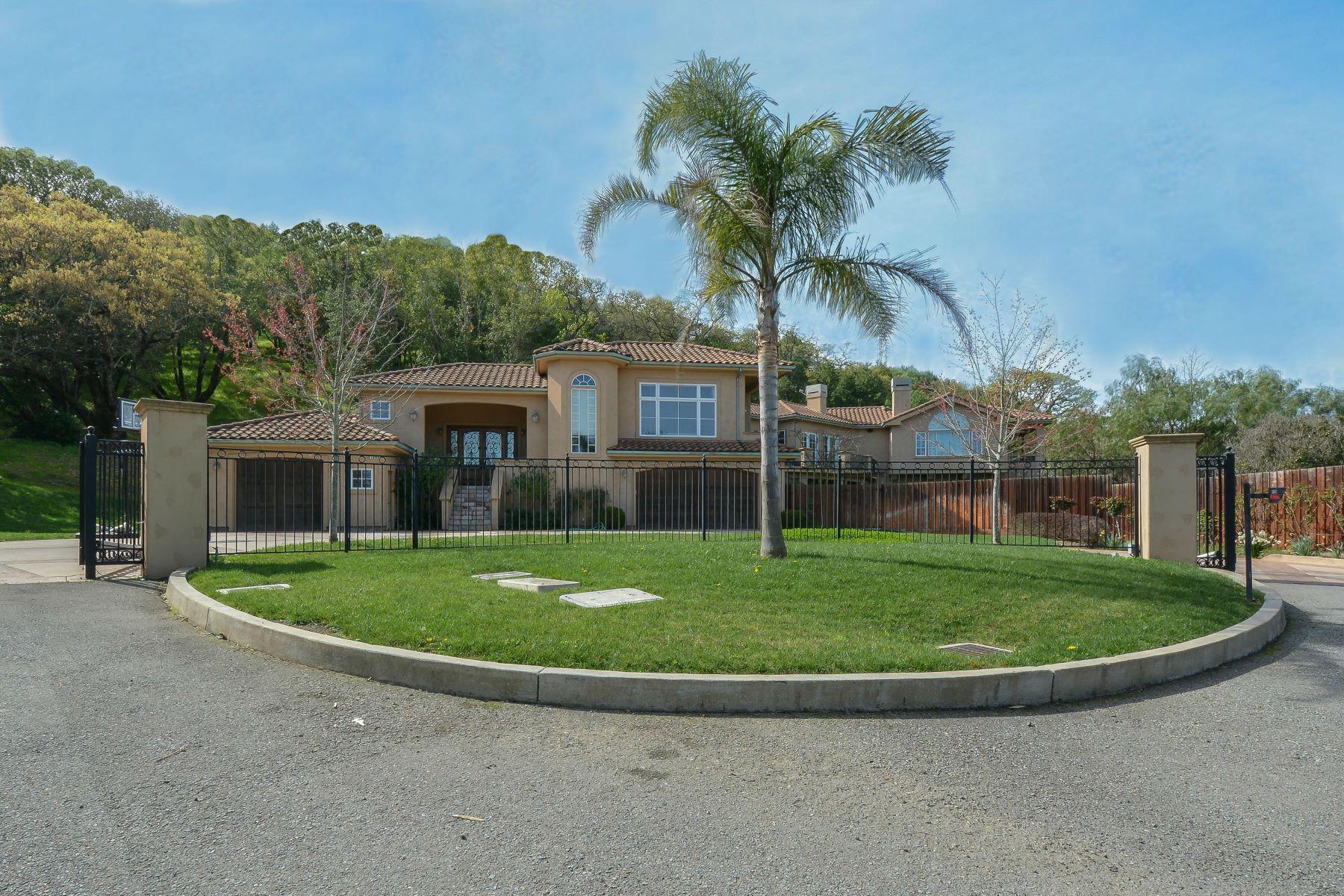 Single Family Home for Sale at Private Gated Mediterranean Novato Estate 106 Kristin Marie Court Novato, California 94945 United States