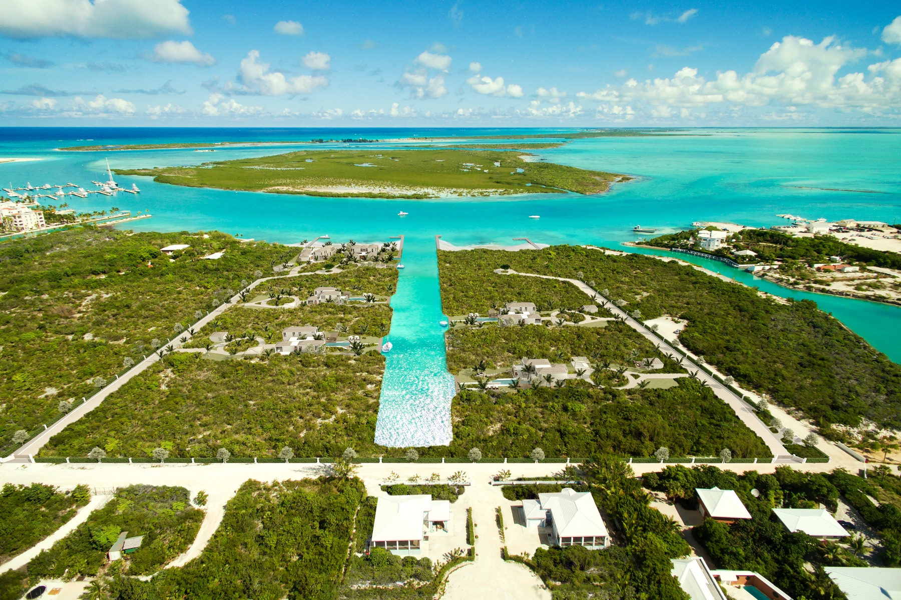 Additional photo for property listing at Pavilion House - Beachfront Lot 1 Blue Cay Estate, Leeward, Providenciales Islas Turcas Y Caicos