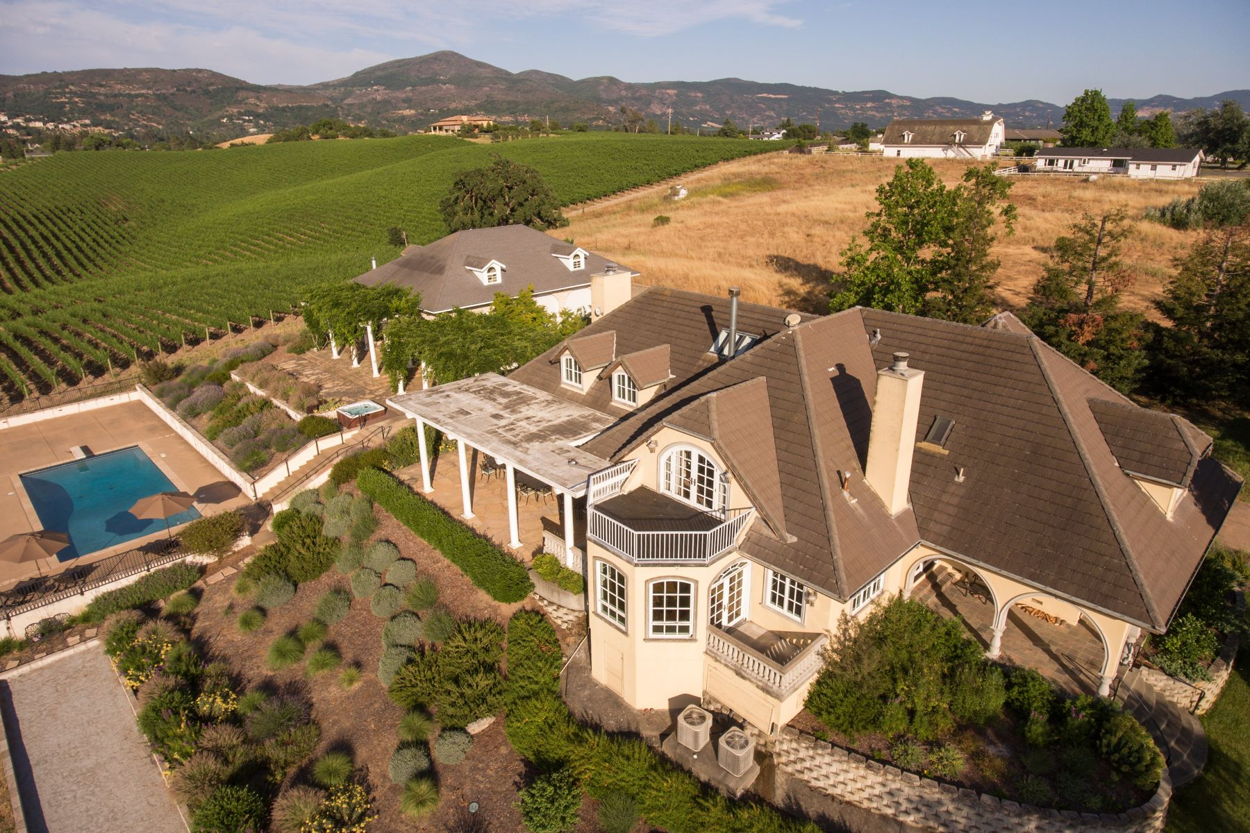 Single Family Home for Sale at Napa Valley Vineyard Estate with Panoramic Views 1100 Hardman Avenue Napa, California 94558 United States