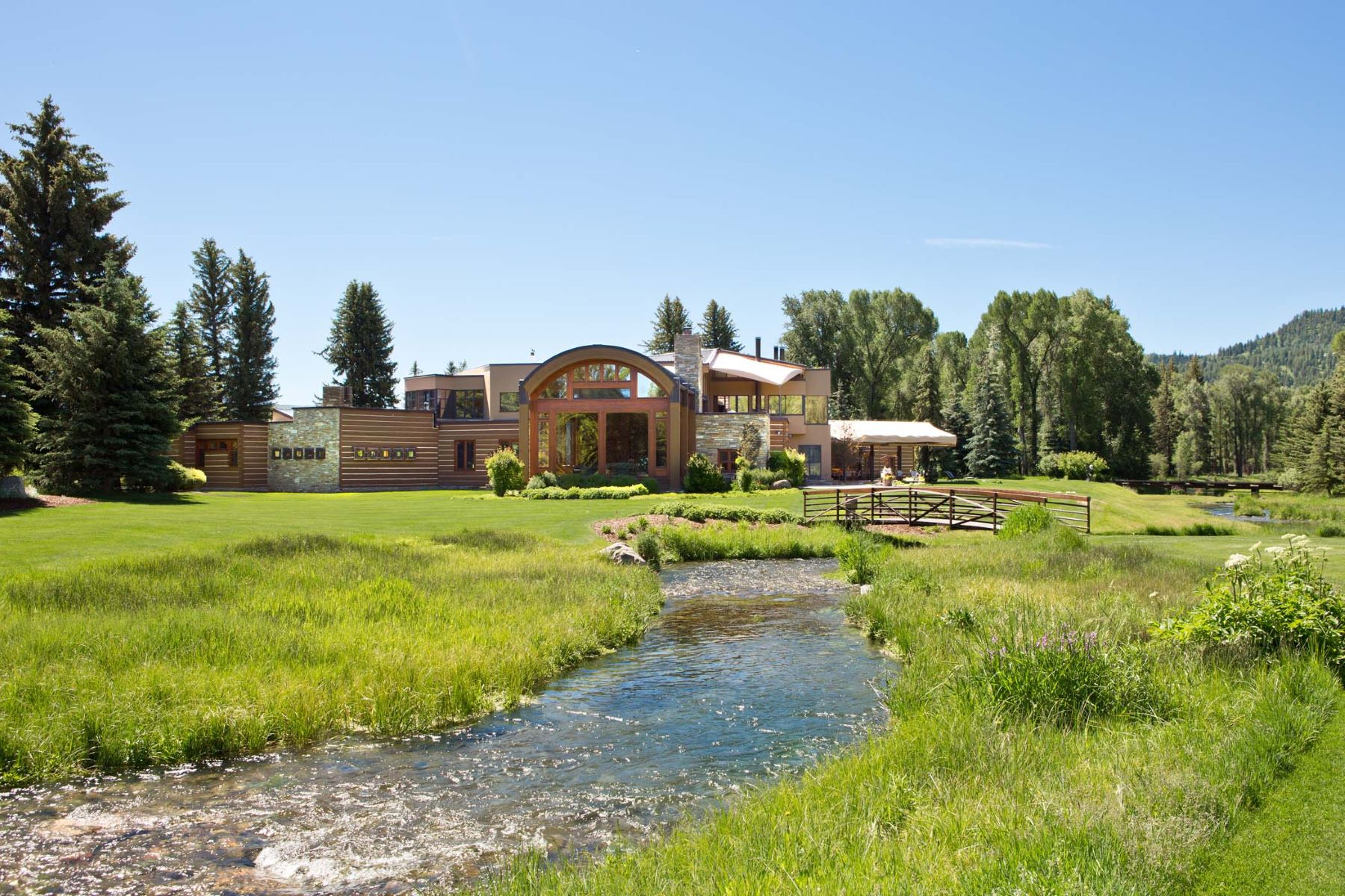 Single Family Home for Sale at Creekside Elegance 5300 Prince Place Jackson, Wyoming, 83001 Jackson Hole, United States