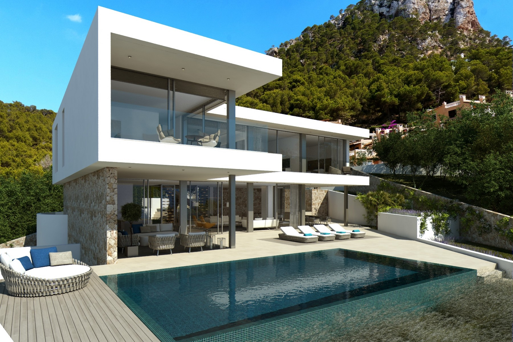 Single Family Home for Sale at New build villa with sea views in Port Andratx Port Andratx, Mallorca, 07157 Spain