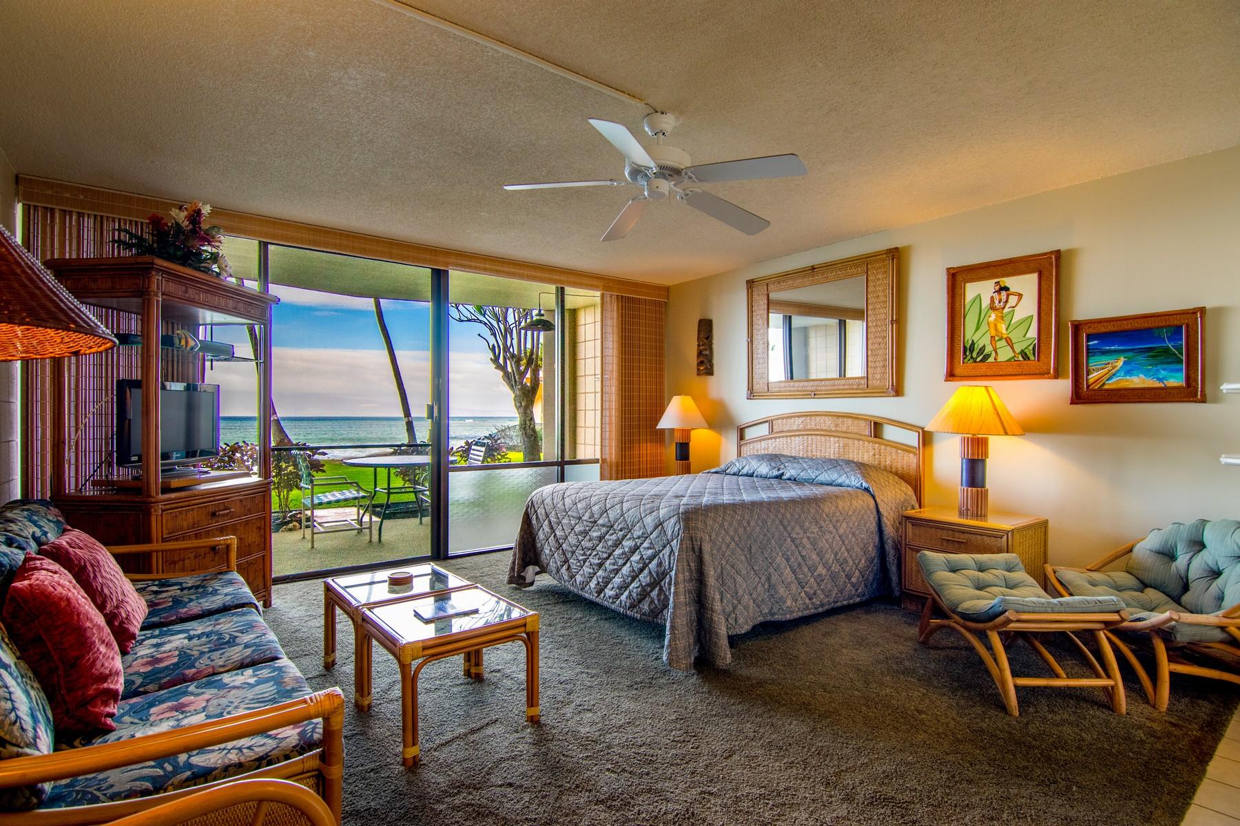 共管式独立产权公寓 为 销售 在 Stunning Sunset Views & Direct Ocean Front Condo 4327 Lower Honoapiilani Road, Valley Isle Resort 107 卡哈纳, 夏威夷, 96761 美国