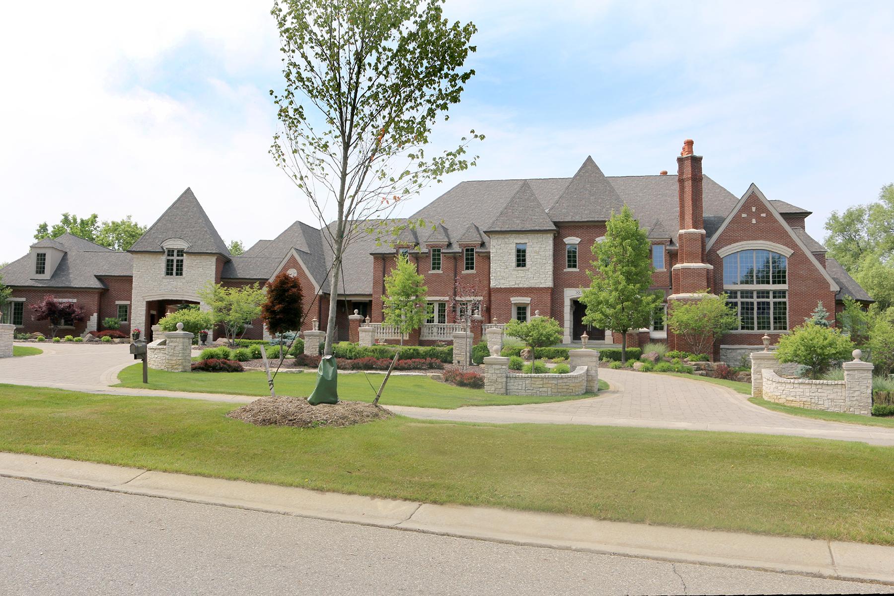 Maison unifamiliale pour l Vente à Oakland Township 2424 Pond Vallee Oakland Township, Michigan, 48363 États-Unis