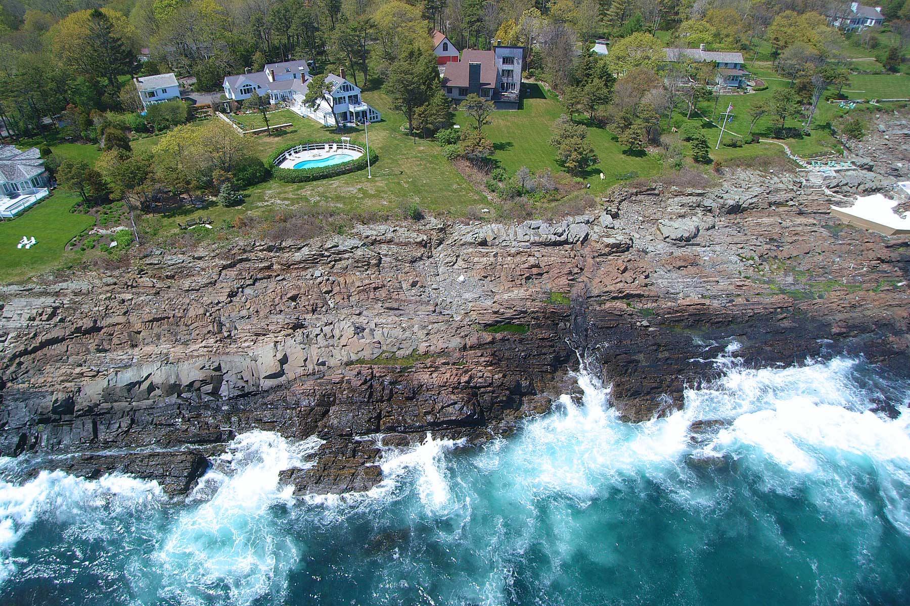 Single Family Home for Sale at Oceanfront Home in Cape Neddick 413 Shore Road York, Maine 03902 United States