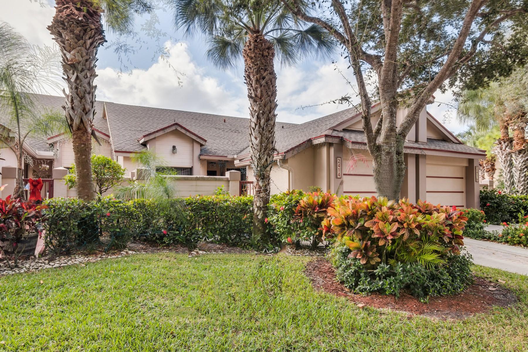 Maison en rangée pour l Vente à 2414 Landings Boulevard Riverbridge, West Palm Beach, Florida, 33413 États-Unis