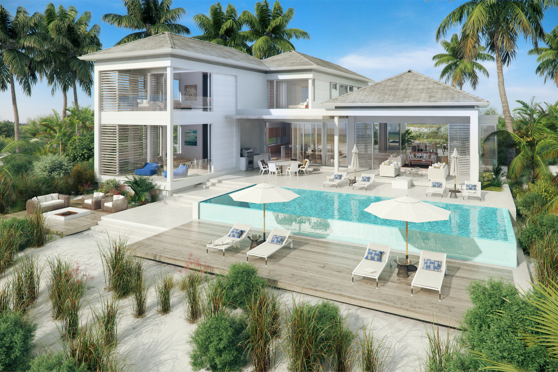 獨棟家庭住宅 為 出售 在 BEACH ENCLAVE GRACE BAY Design A Beachfront, Grace Bay, 普羅維登夏, TKCA 1ZZ 特克斯和凱科斯群島